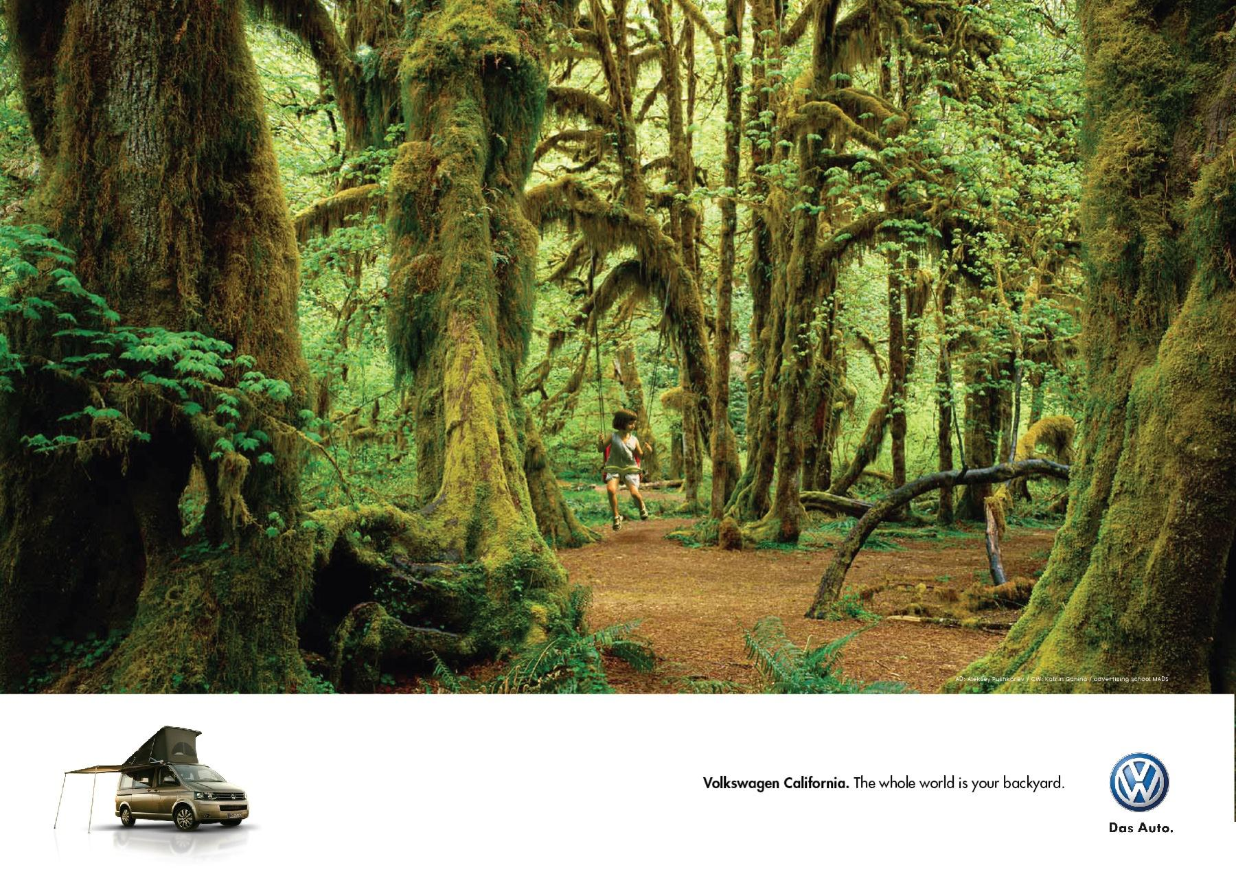 volkswagen outdoor advert by mads backyard 1 ads of the world