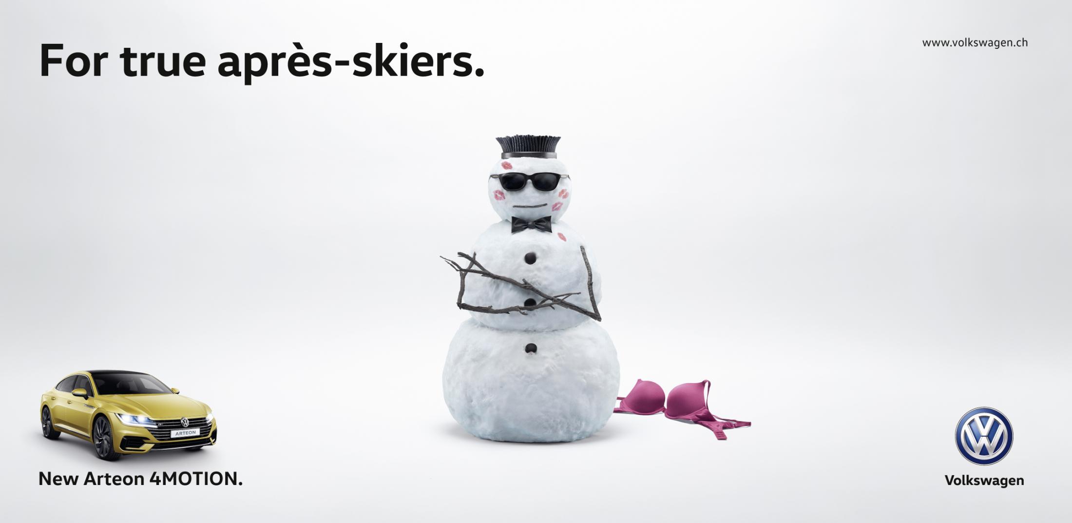 Volkswagen Outdoor Ad - Après Skiers