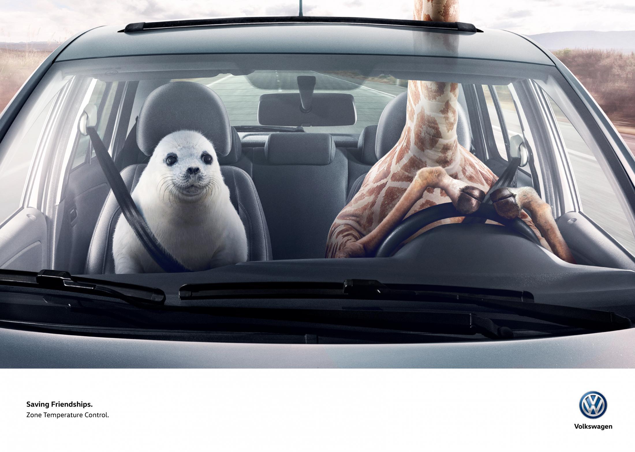 Volkswagen Print Ad - Giraffe & Seal