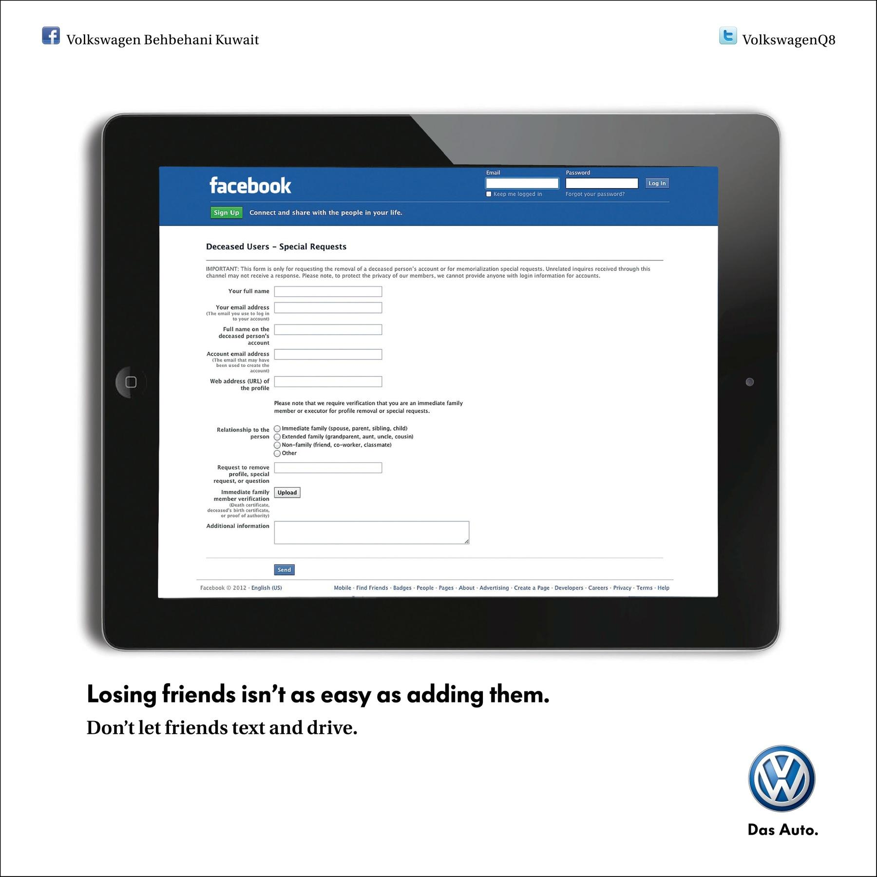 Volkswagen Print Ad -  Facebook
