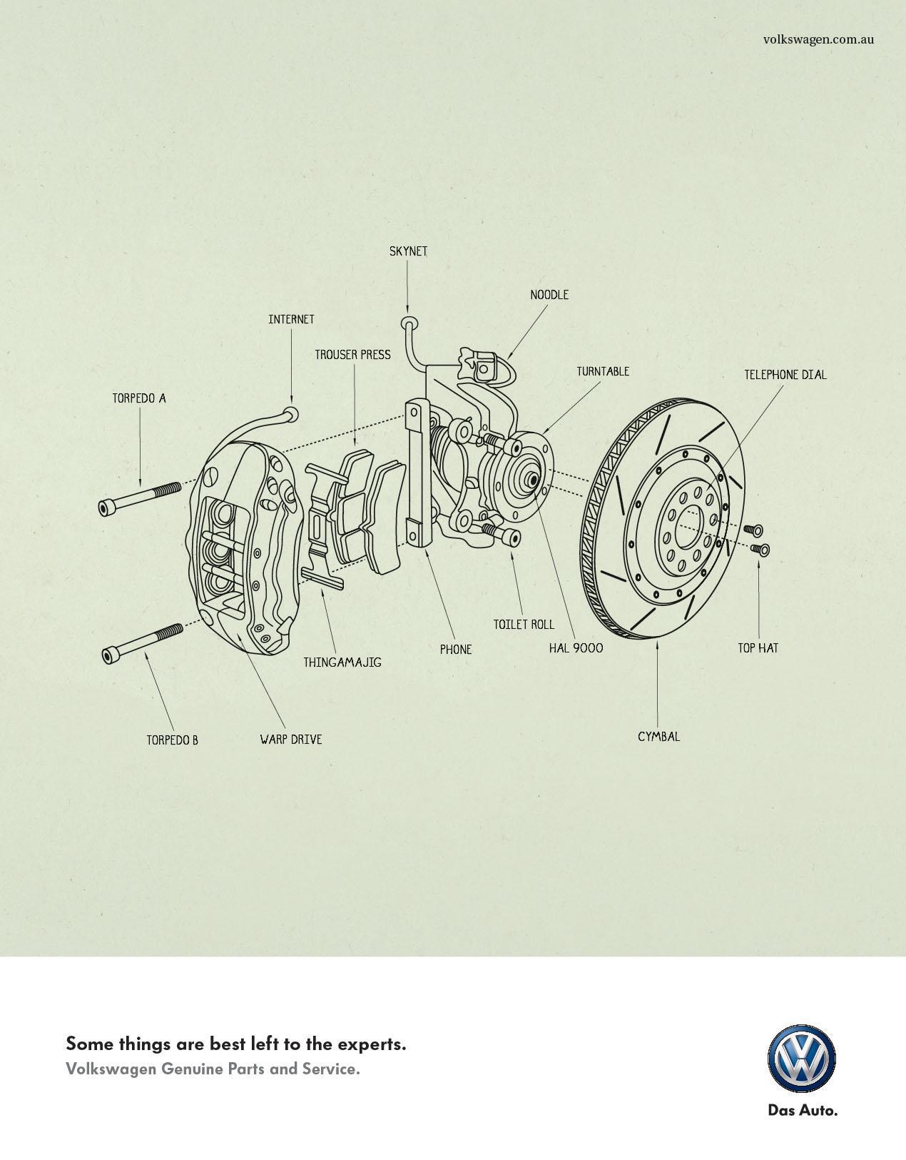 Volkswagen Print Ad -  Brake