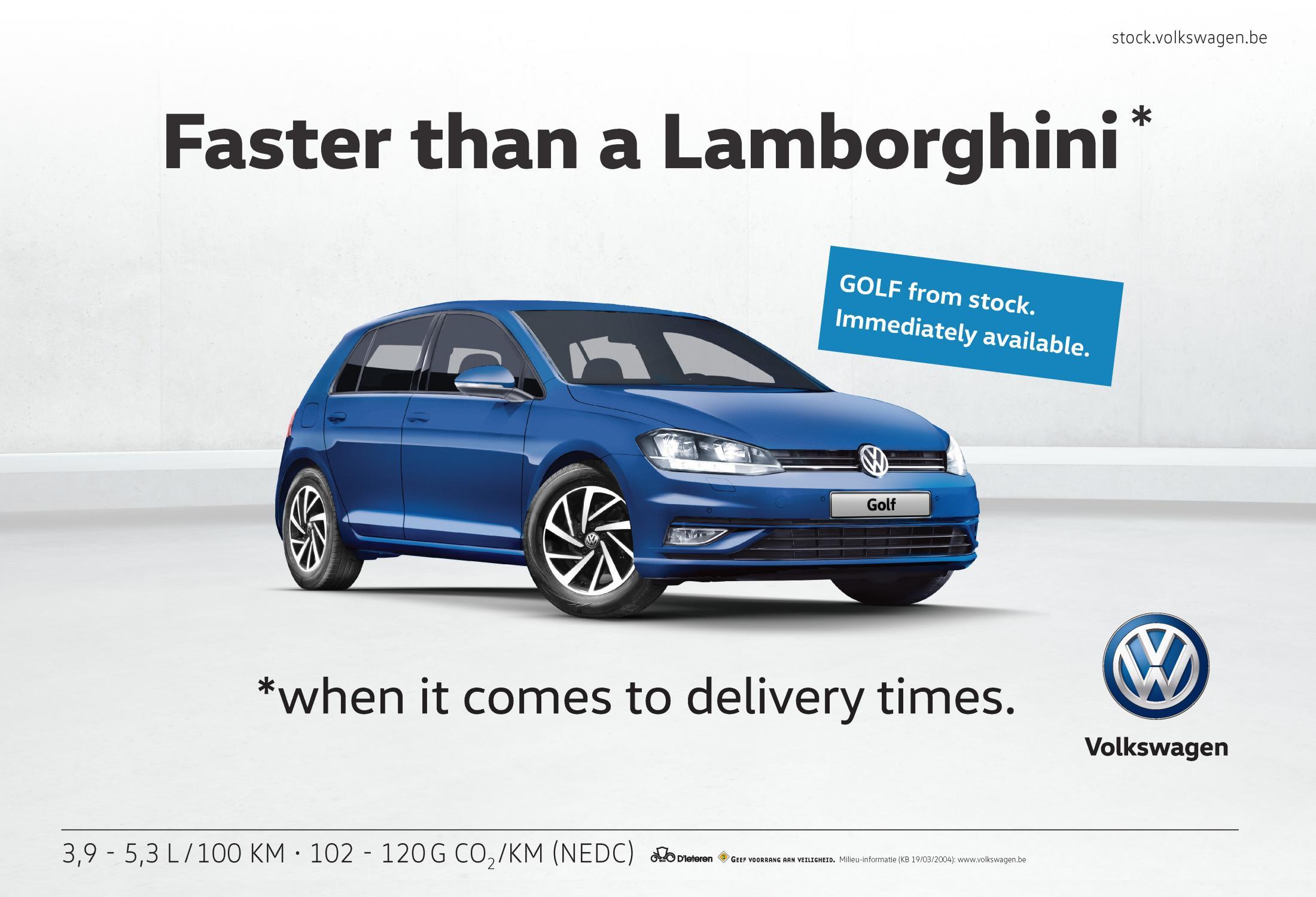 Volkswagen Integrated Ad - Faster Than a Lamborghini
