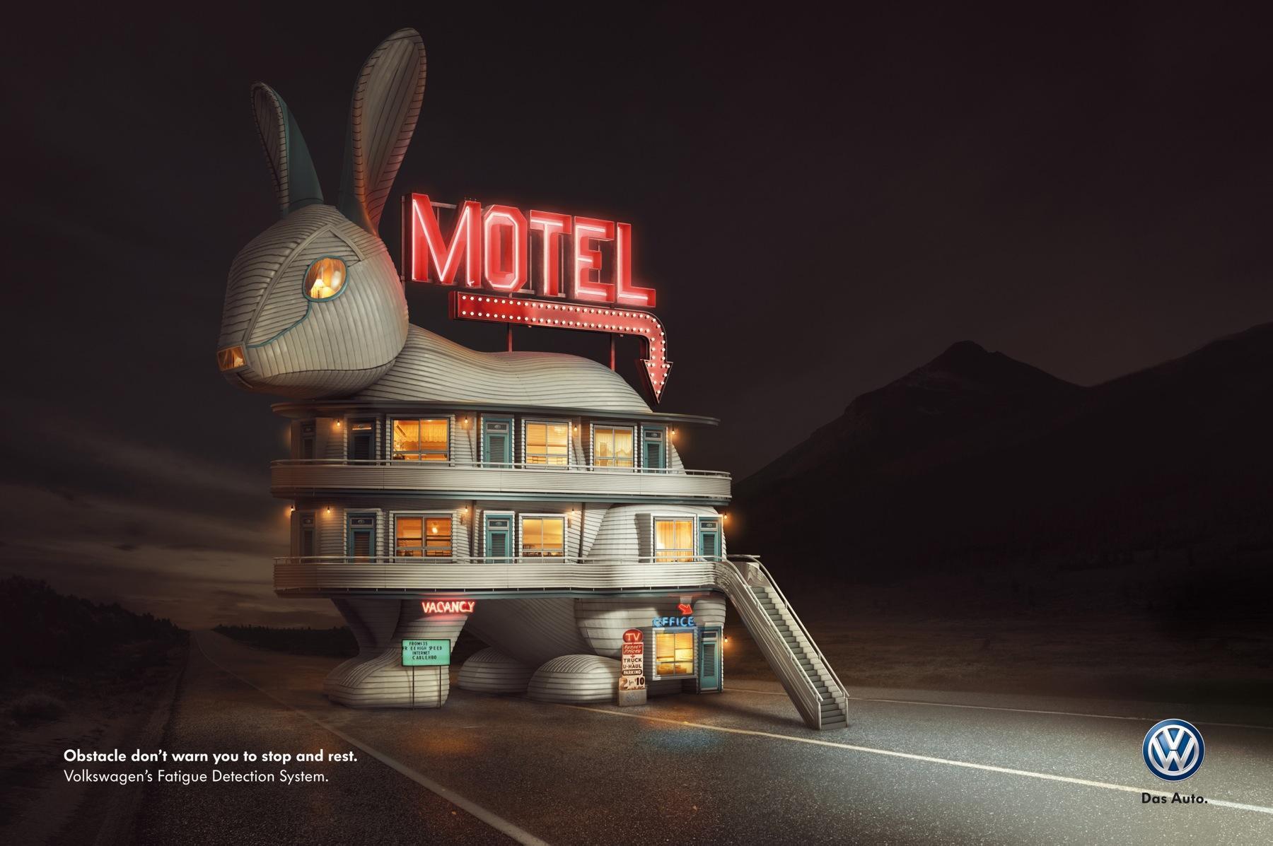 Volkswagen Print Ad -  Rabbit Motel