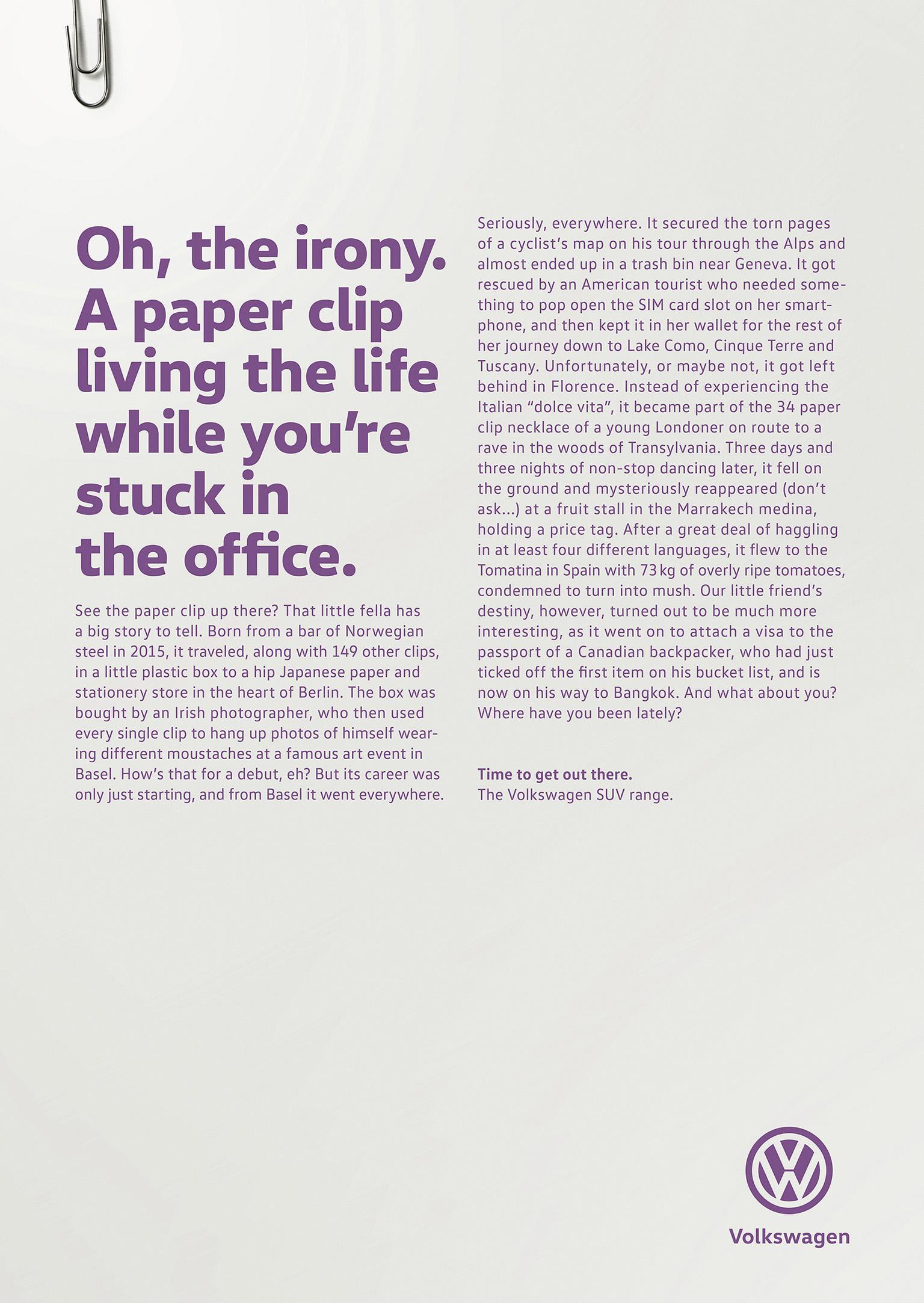 Volkswagen Print Ad - Paper clip