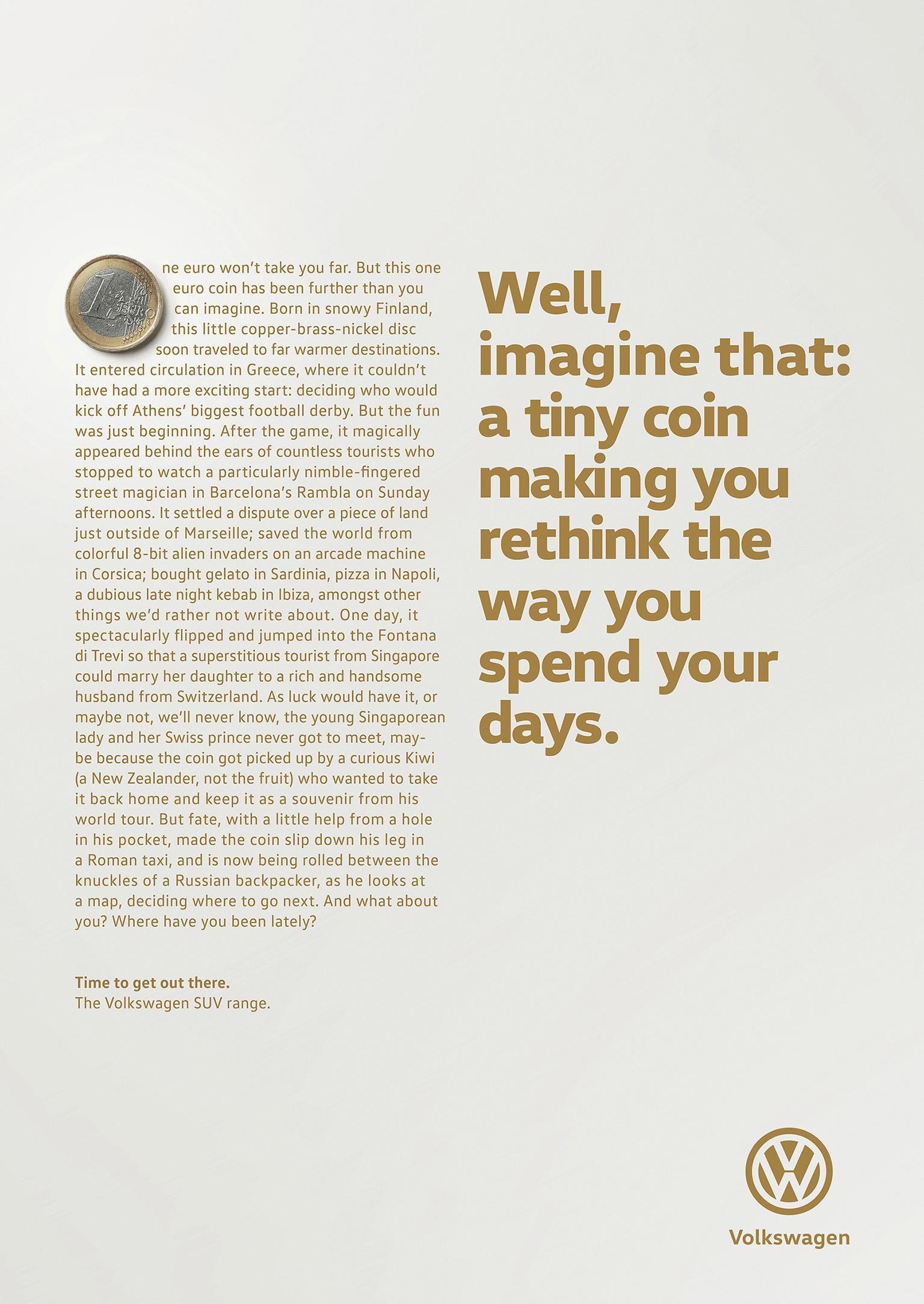 Volkswagen Print Ad - Coin