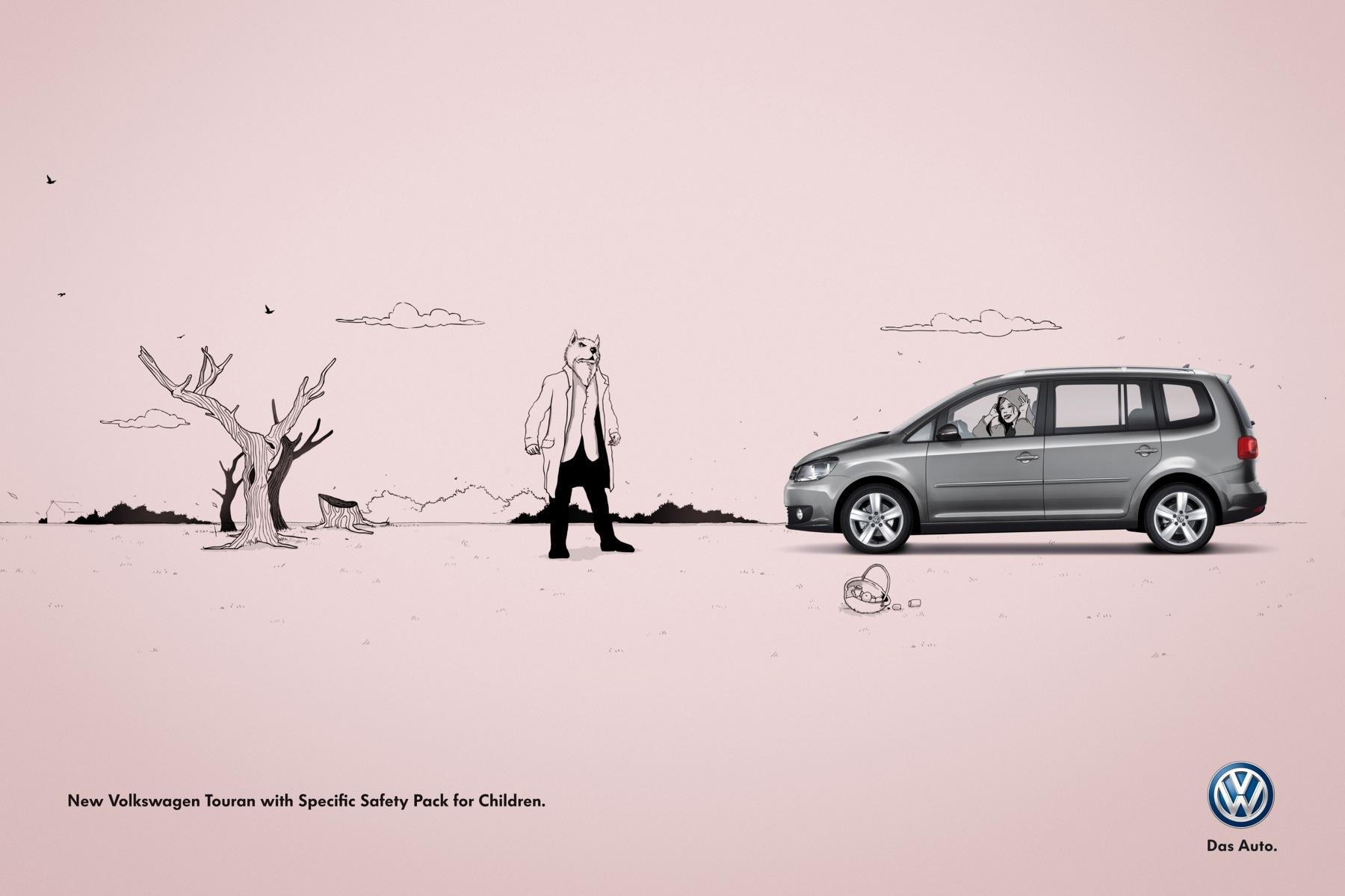 Volkswagen Print Ad -  Little Red Riding Hood