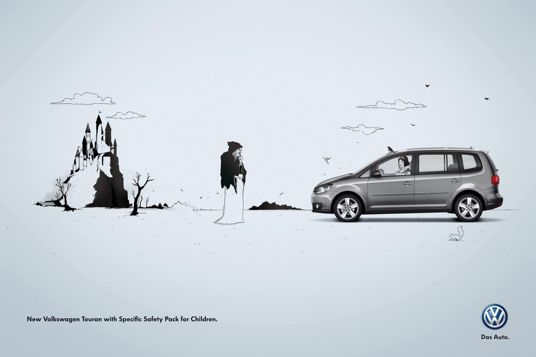 Volkswagen Print Ad -  Snow White