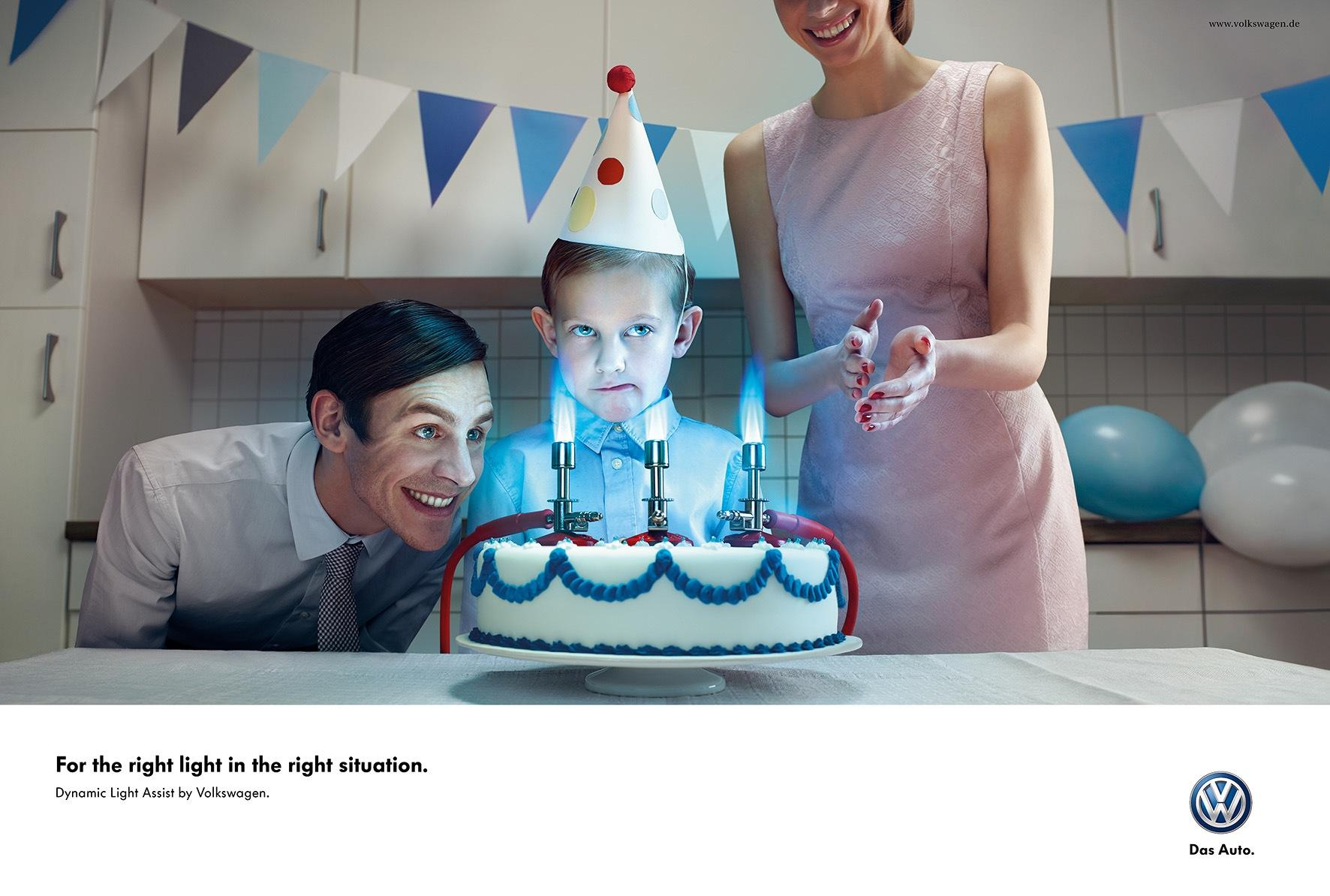 Volkswagen Print Ad -  Birthday