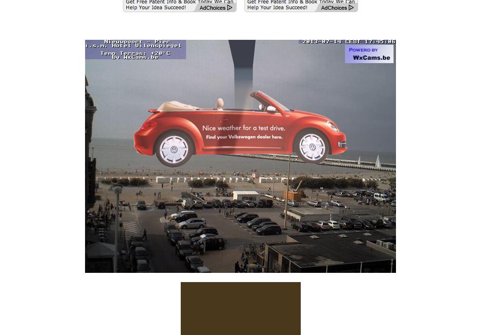 Volkswagen Ambient Ad -  Meteo-Wobbler