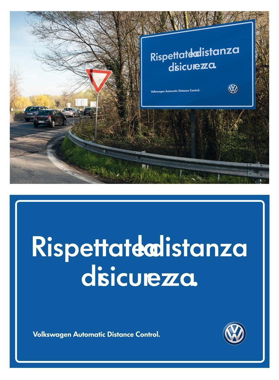 Volkswagen Outdoor Ad -  Safe distance