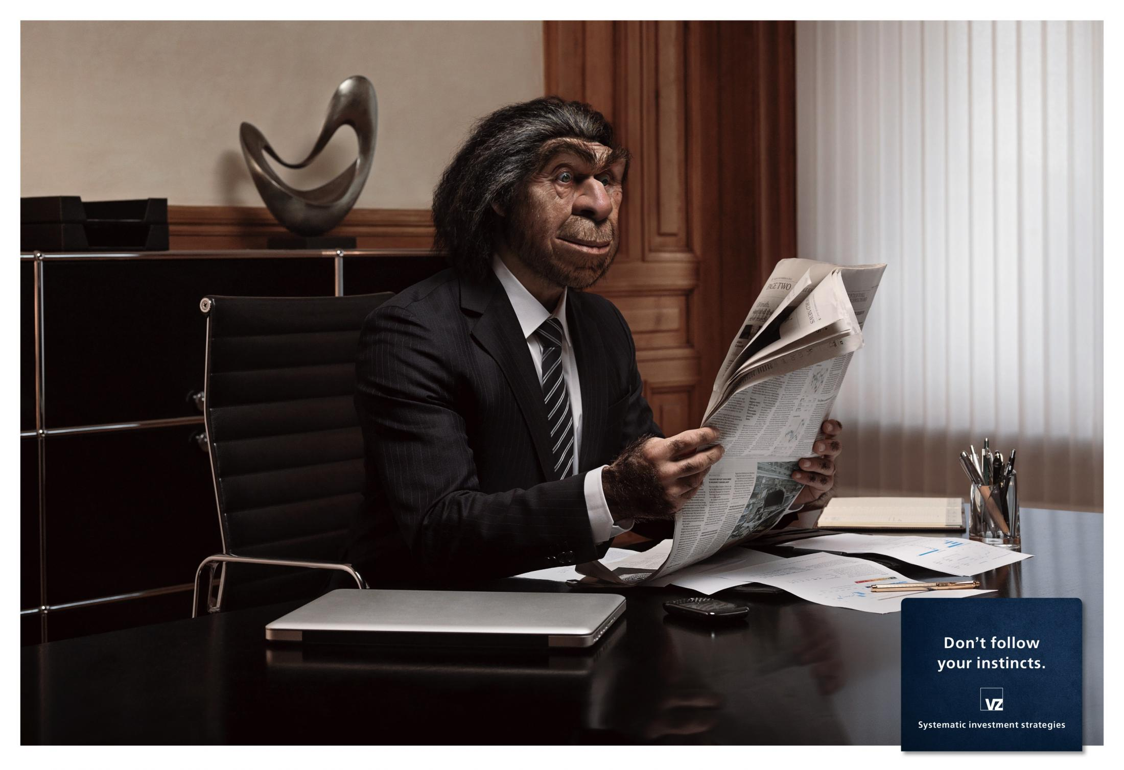 VZ Wealth Management Print Ad -  Caveman, 1