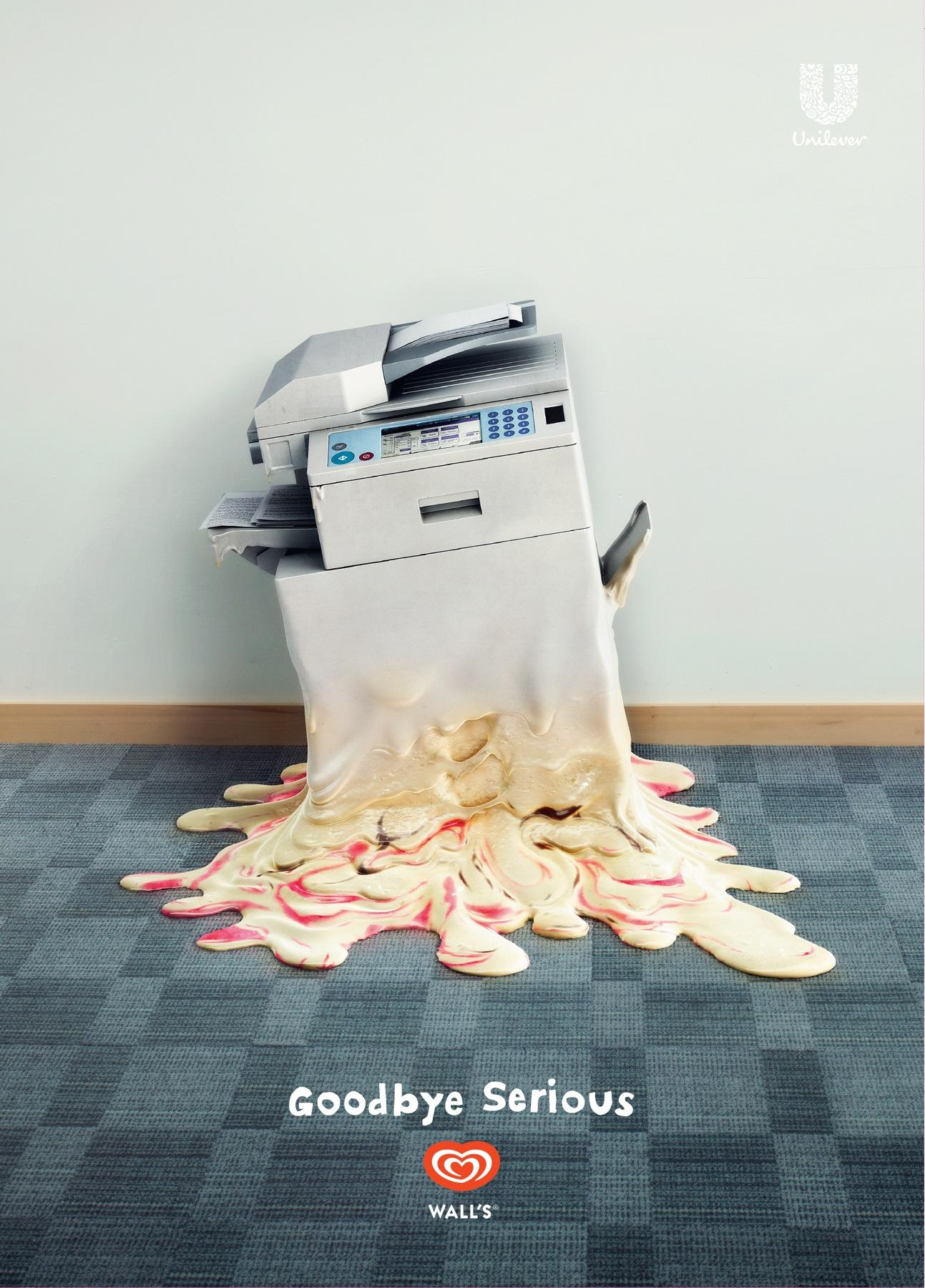 Wall's Print Ad -  Goodbye Serious