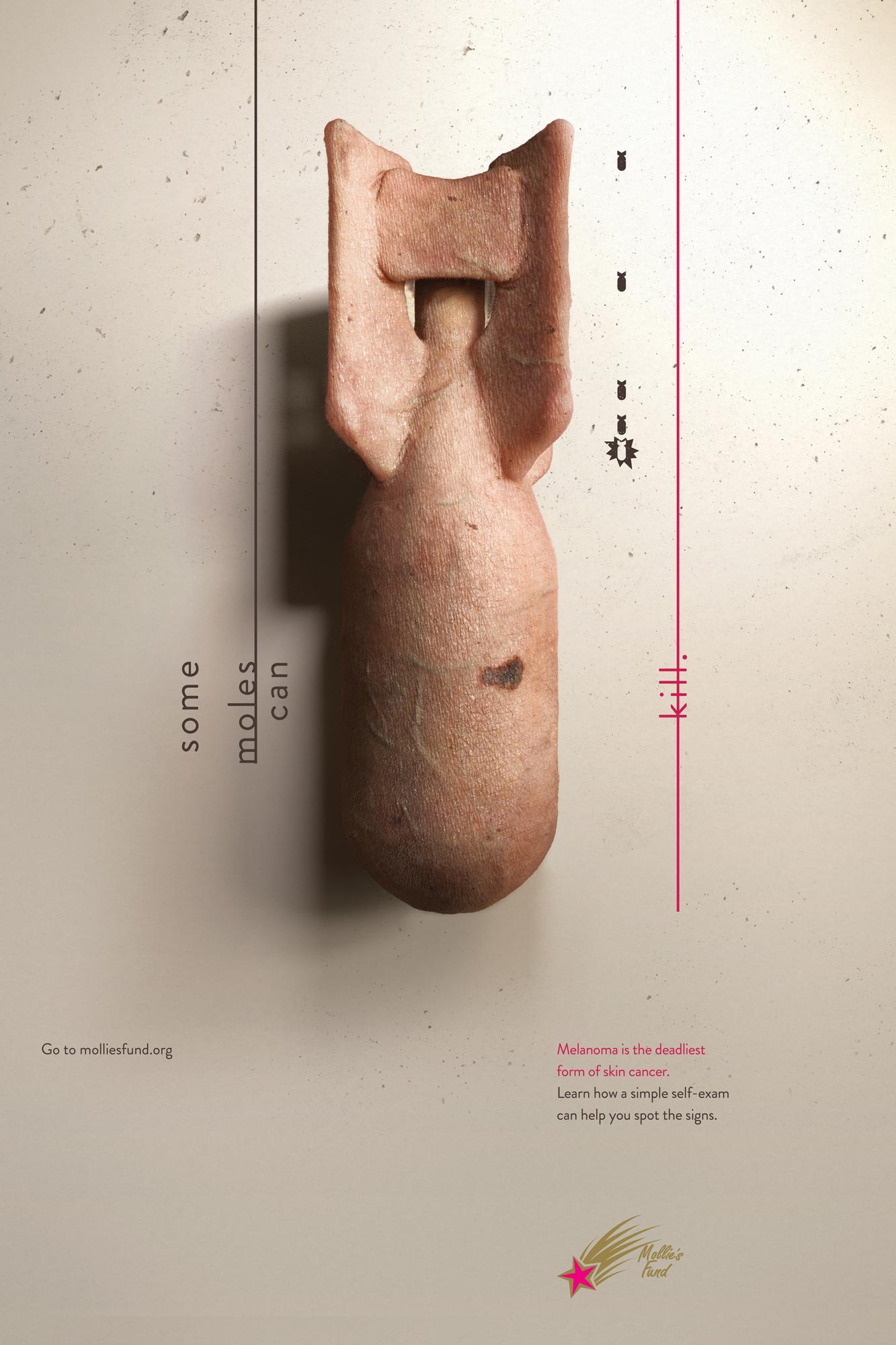 Mollie's Fund Print Ad - Skin Bombs - Warhead