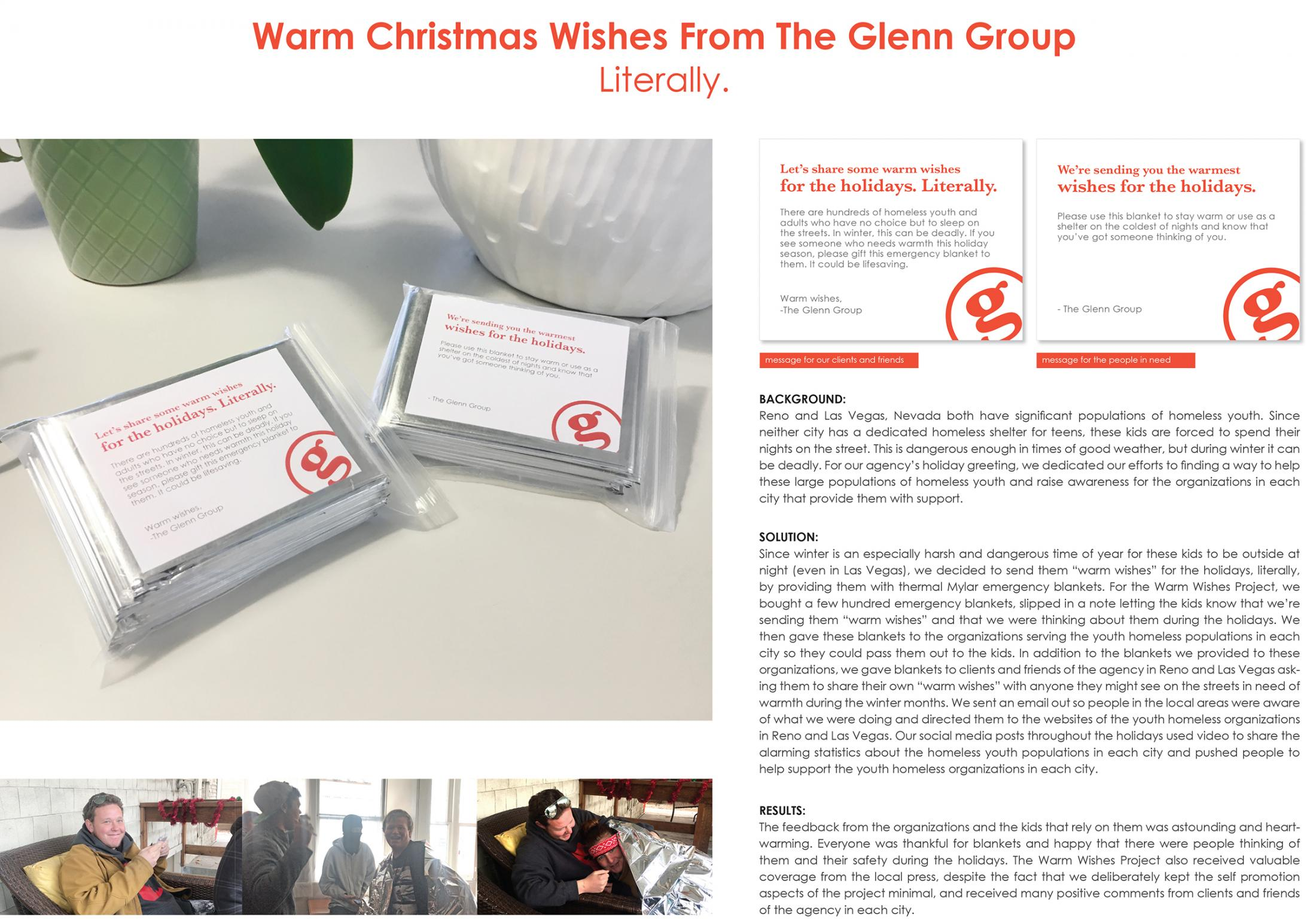 Warm Christmas Wishes From The Glenn Group, Literally