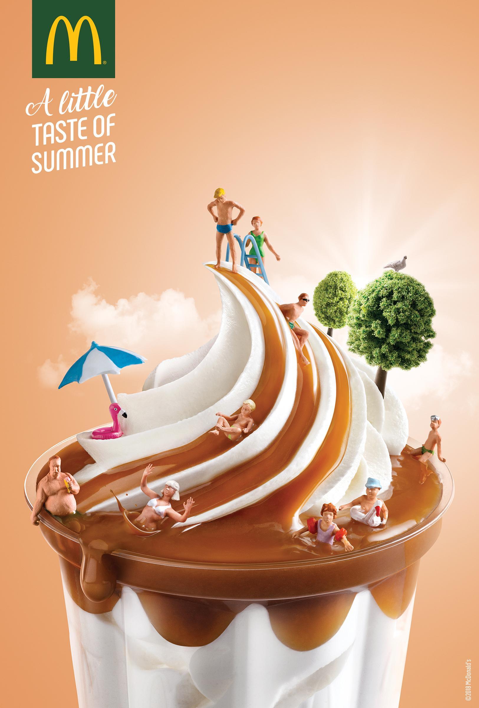 McDonald's Print Ad - Water Slide
