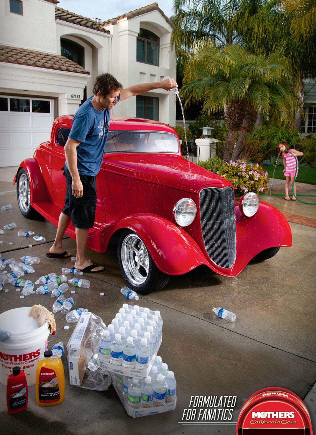 Mothers Car Polish Print Ad -  Bottled Water