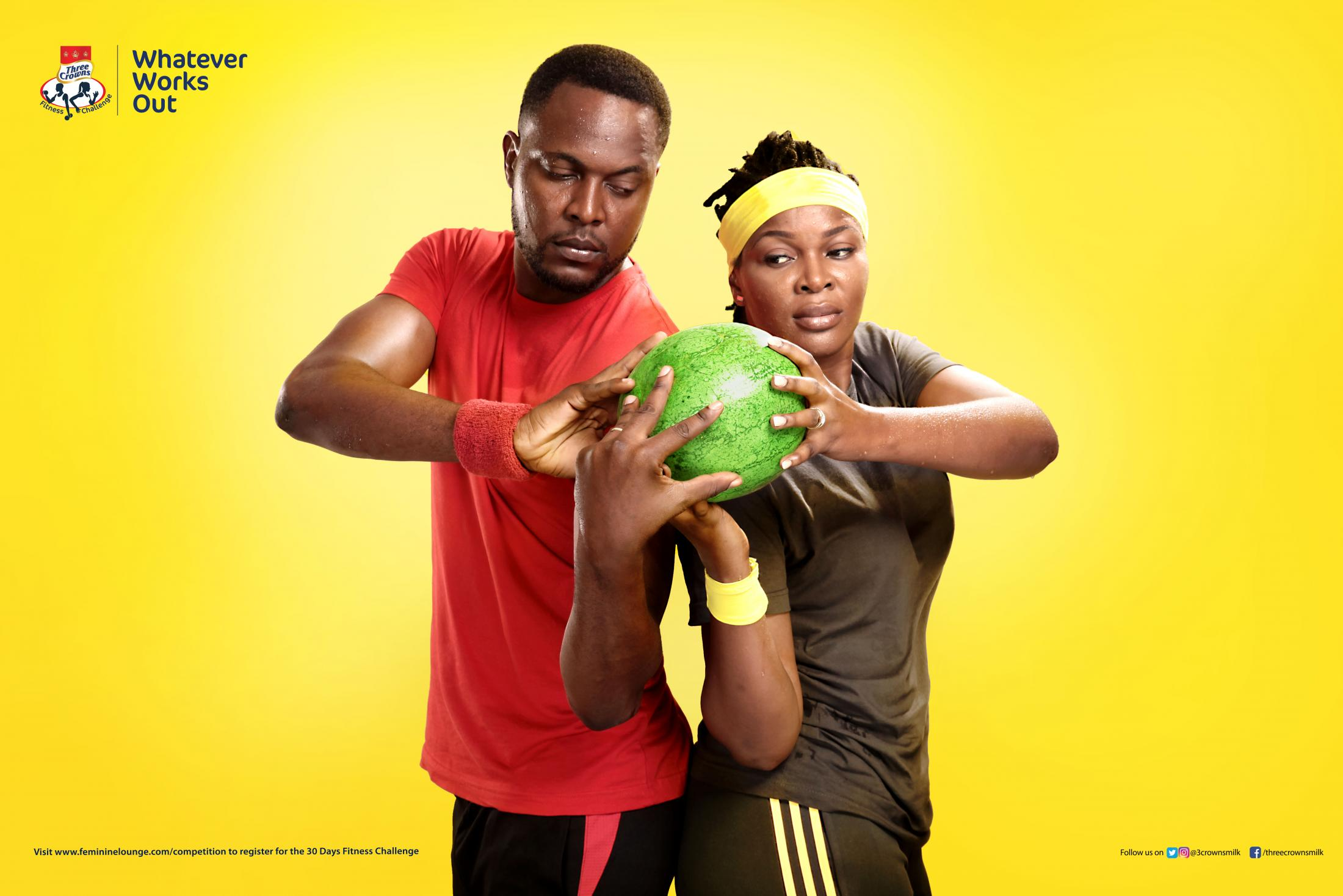 Three Crowns Milk Print Ad - Three Crowns Fitness Challenge Reloaded - Watermelon