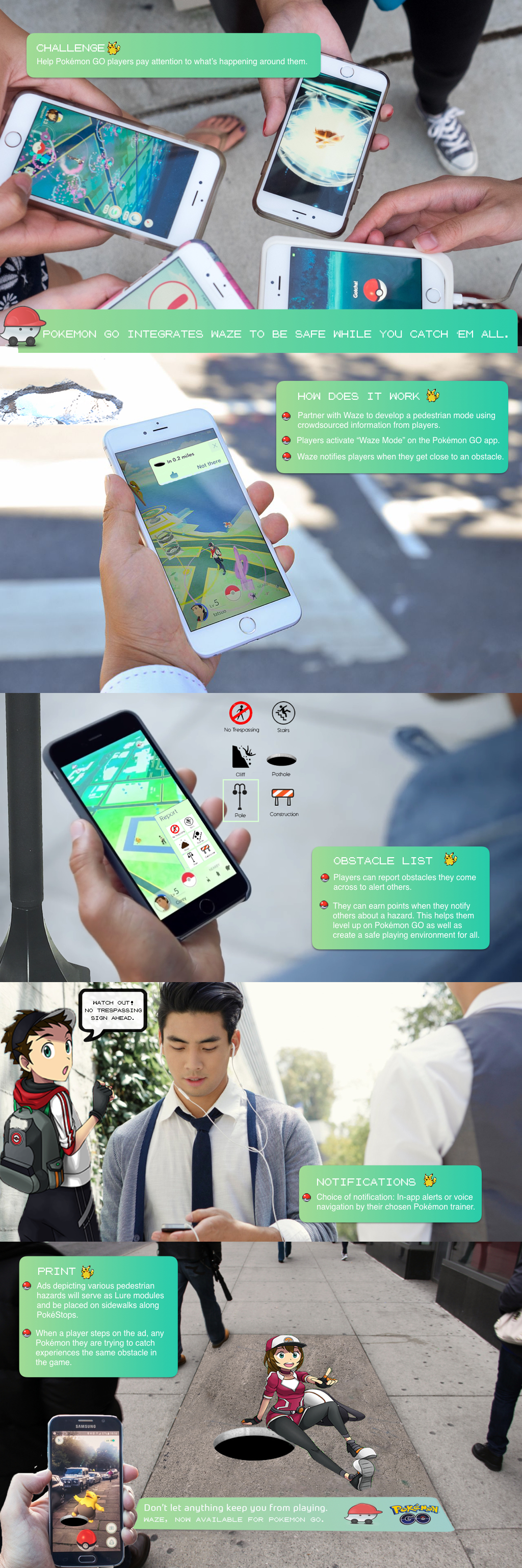 Pokemon GO Print Ad - Pokemon GO integrates Waze to be safe while you Catch 'em all