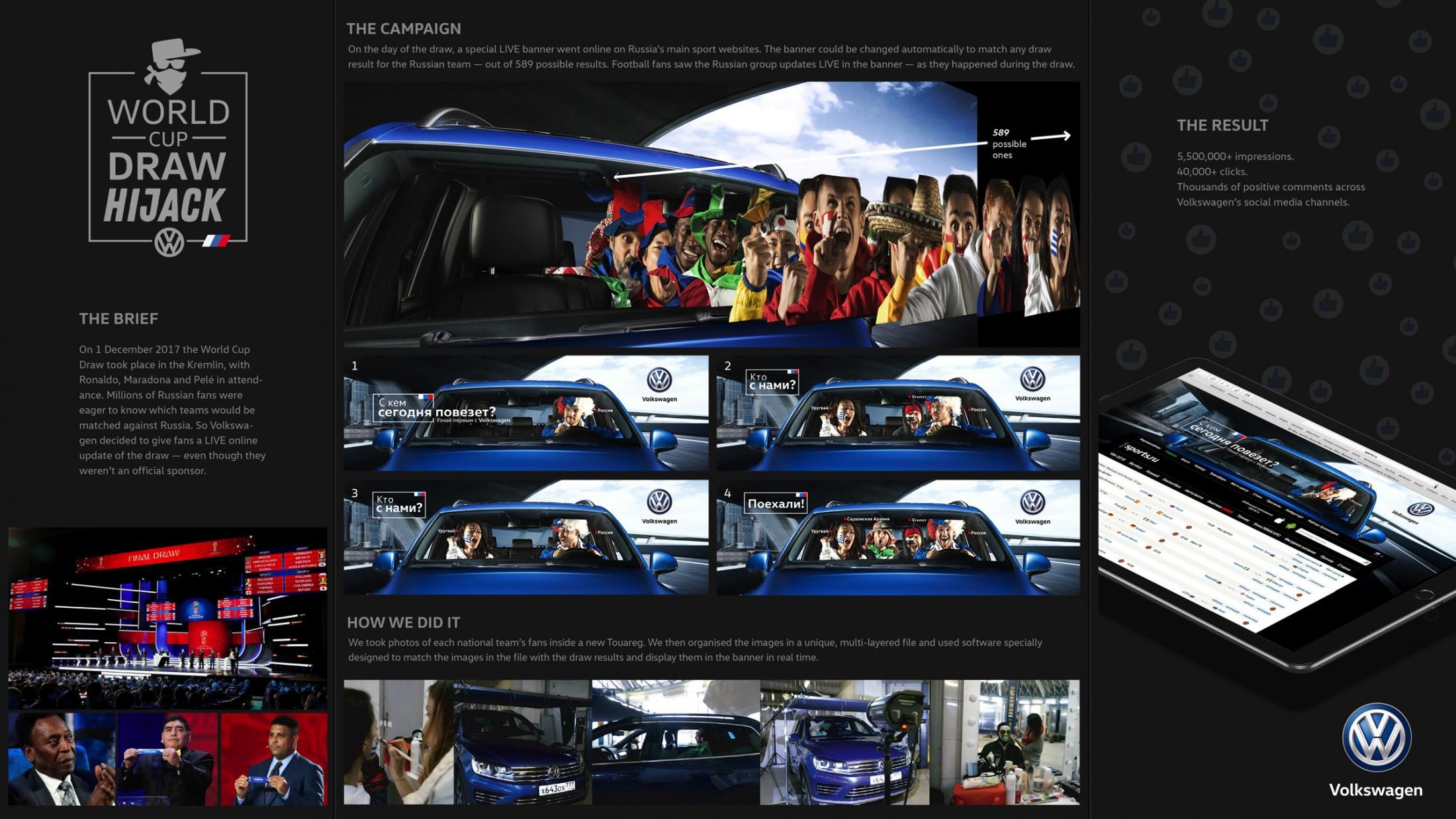 Volkswagen Digital Ad - World Cup Draw Hijack 2018
