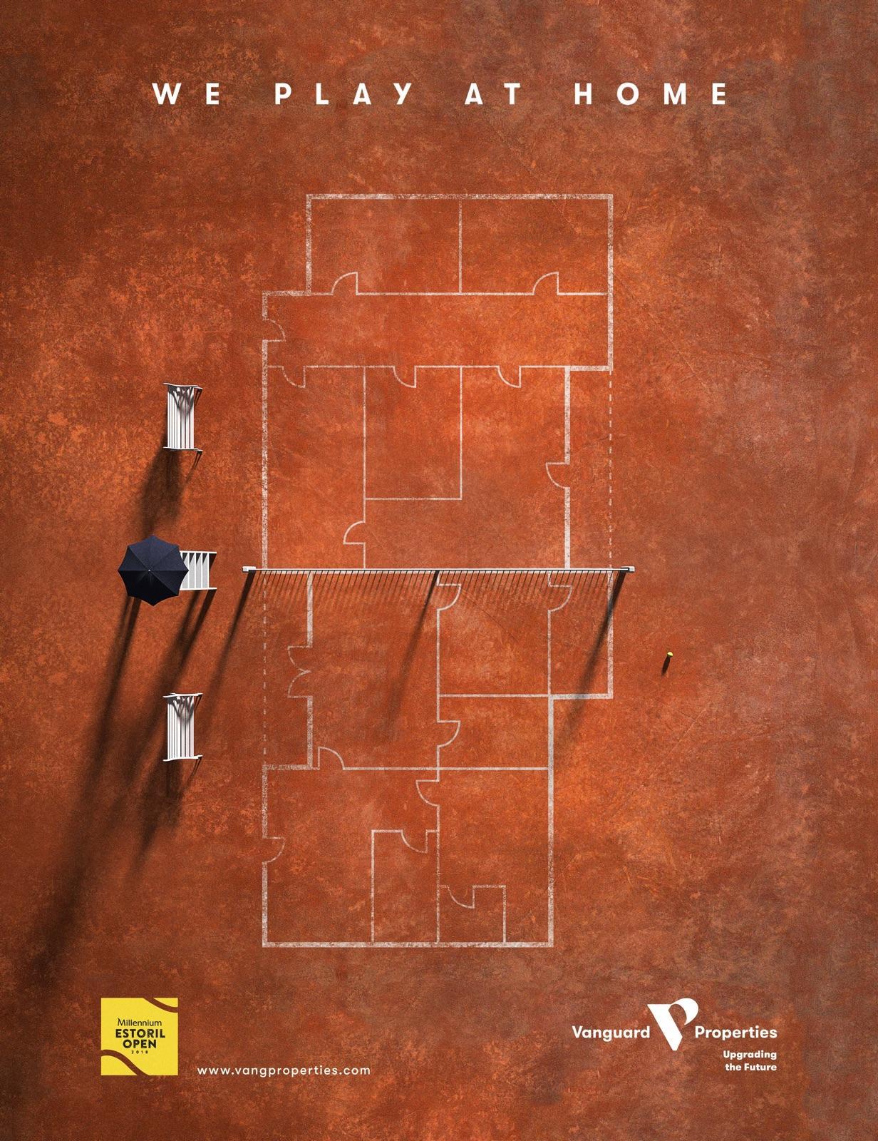 Vanguard Properties Print Ad - We Play At Home