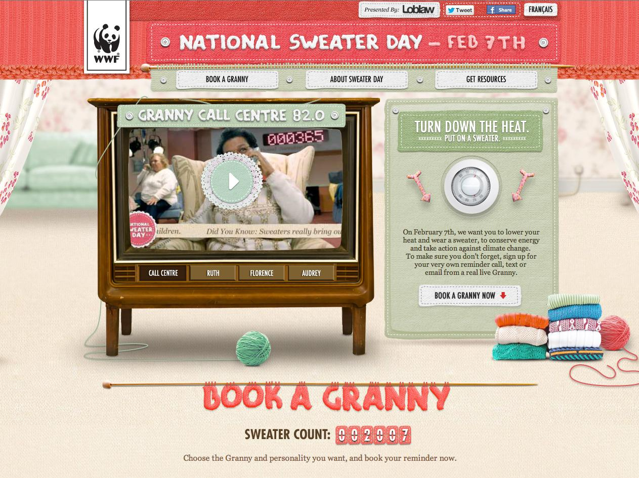 WWF Digital Ad -  Granny Call Centre