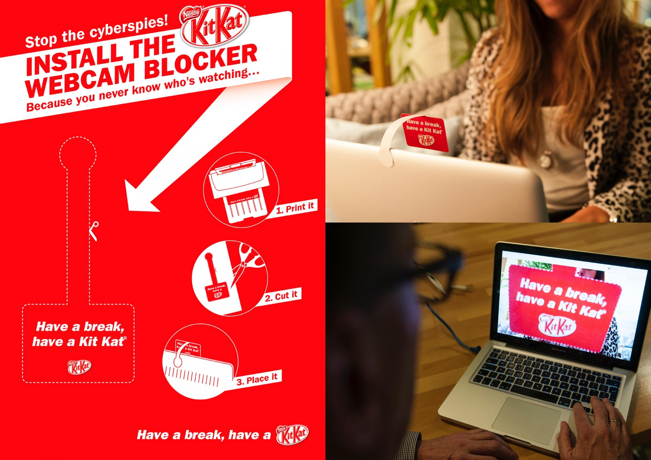 Kit Kat Ambient Ad -  Webcam Blocker