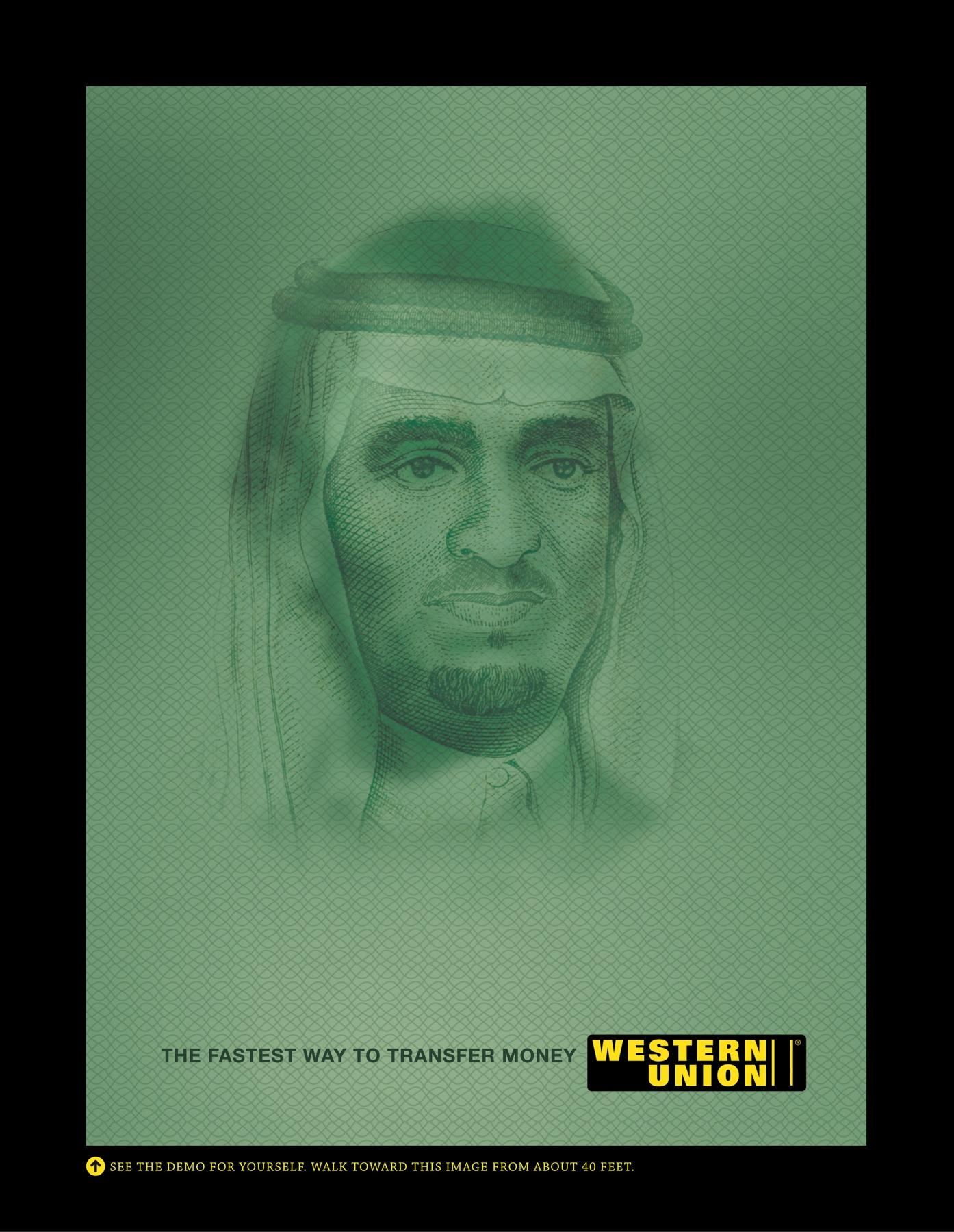 Western Union Outdoor Ad -  Lincoln Fahd