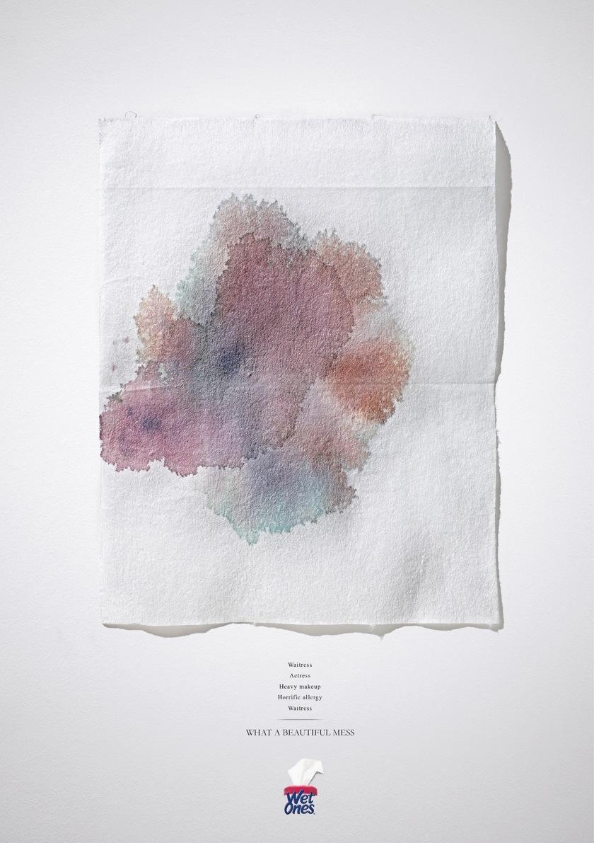 Wet Ones Print Ad -  Unlucky Break