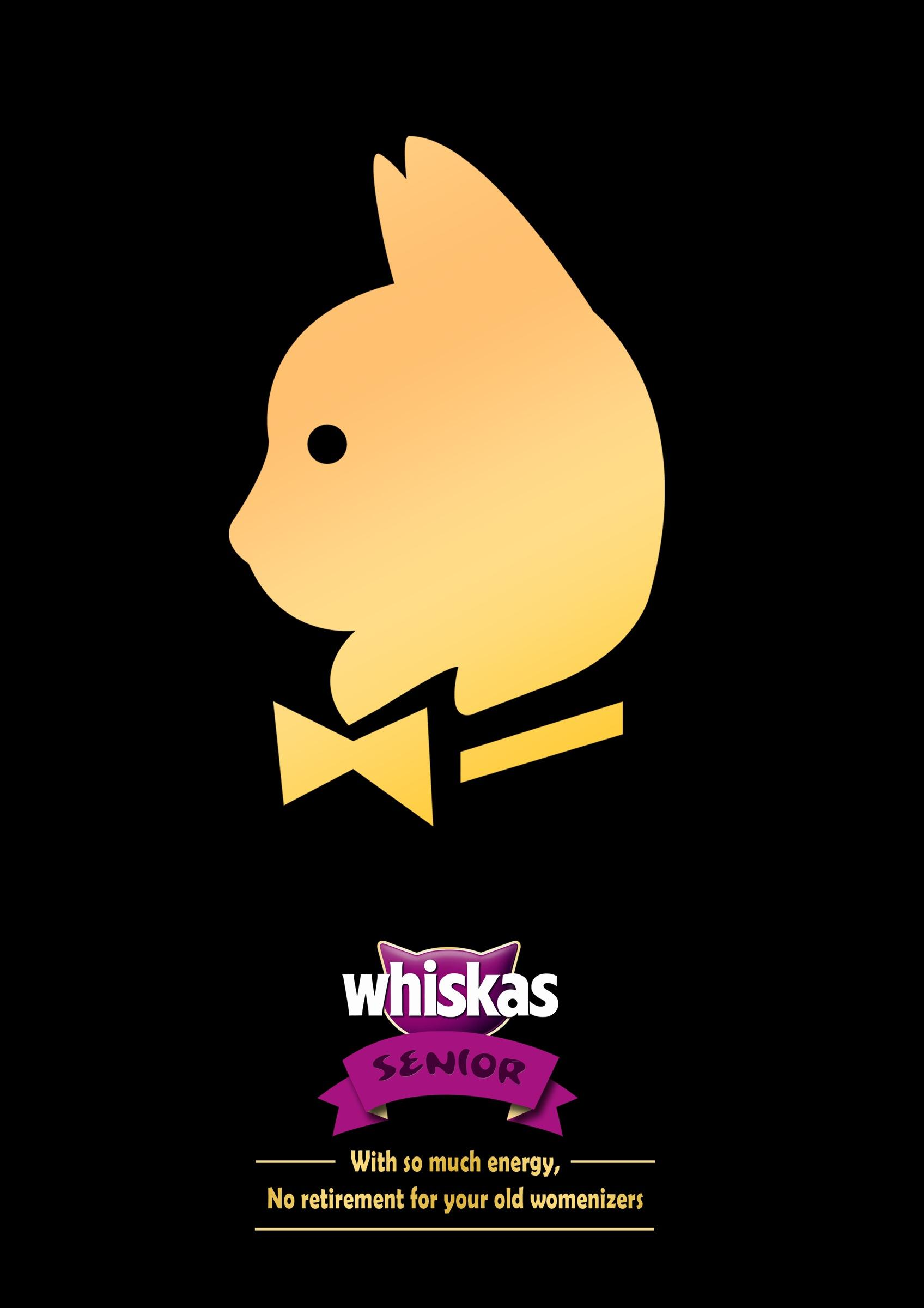Whiskas Print Ad -  No retirement, 2