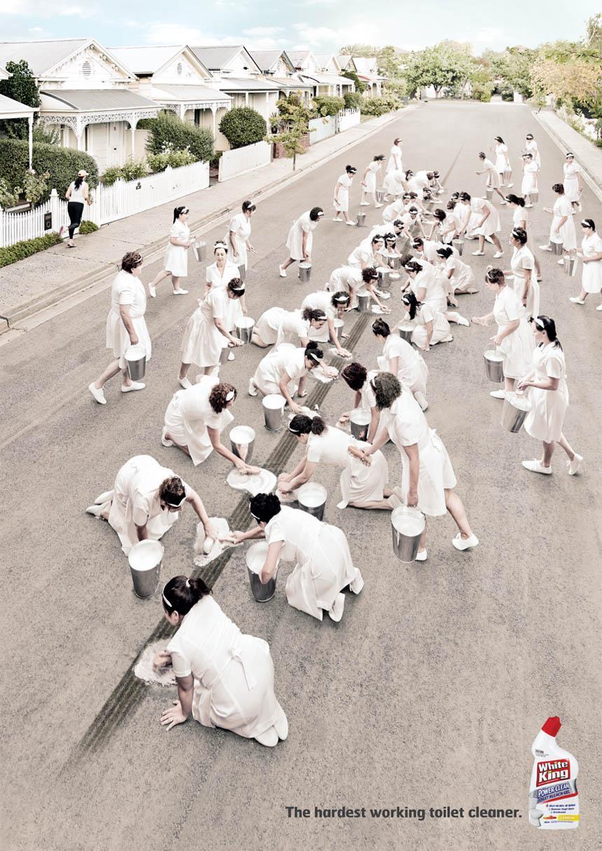 White King Print Ad -  Maids