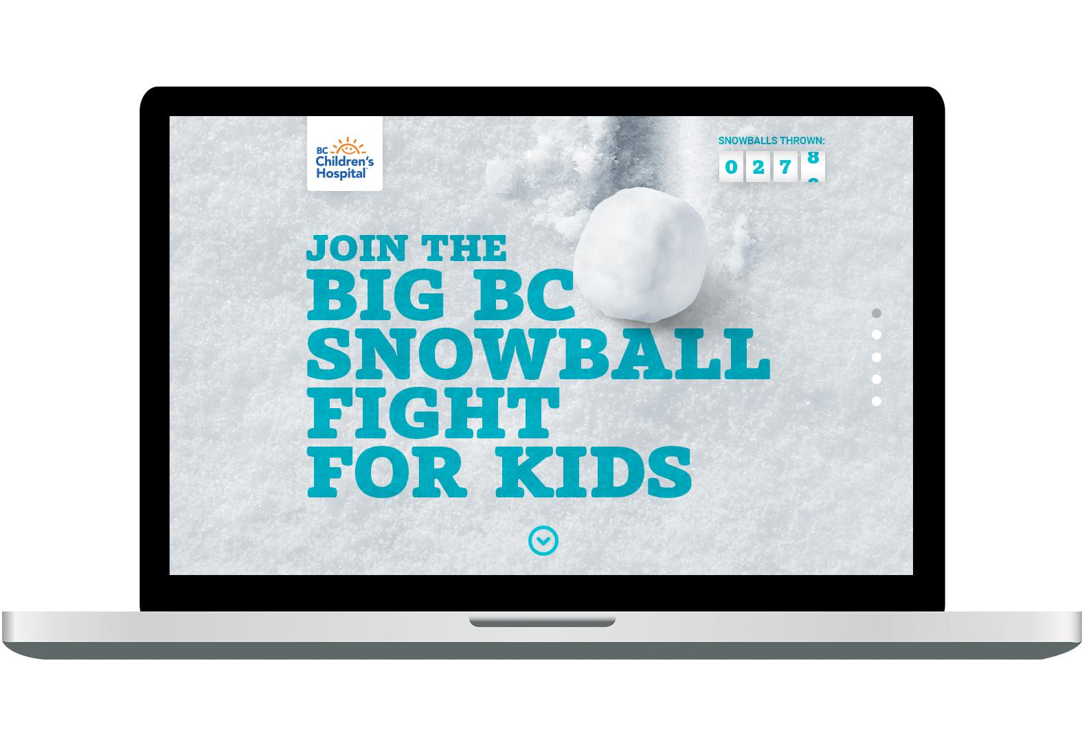 BC Children's Hospital Foundation Integrated Ad - Snowball Fight for Kids