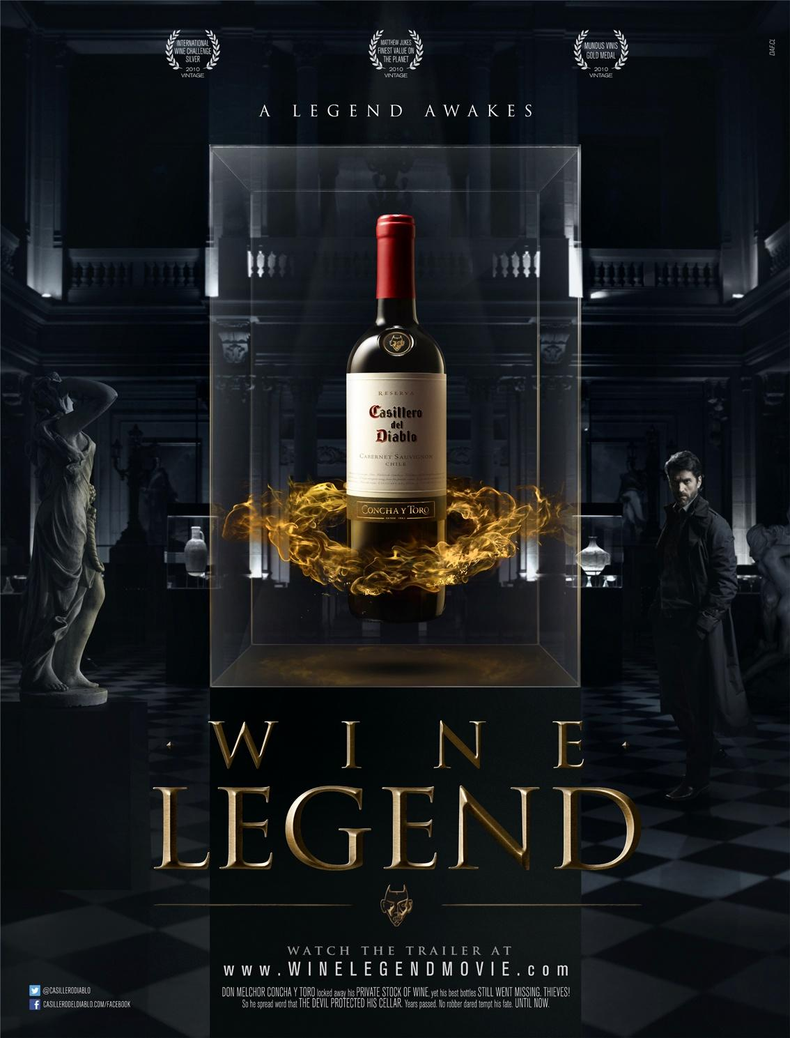 Casillero del Diablo Outdoor Ad -  Wine Legend