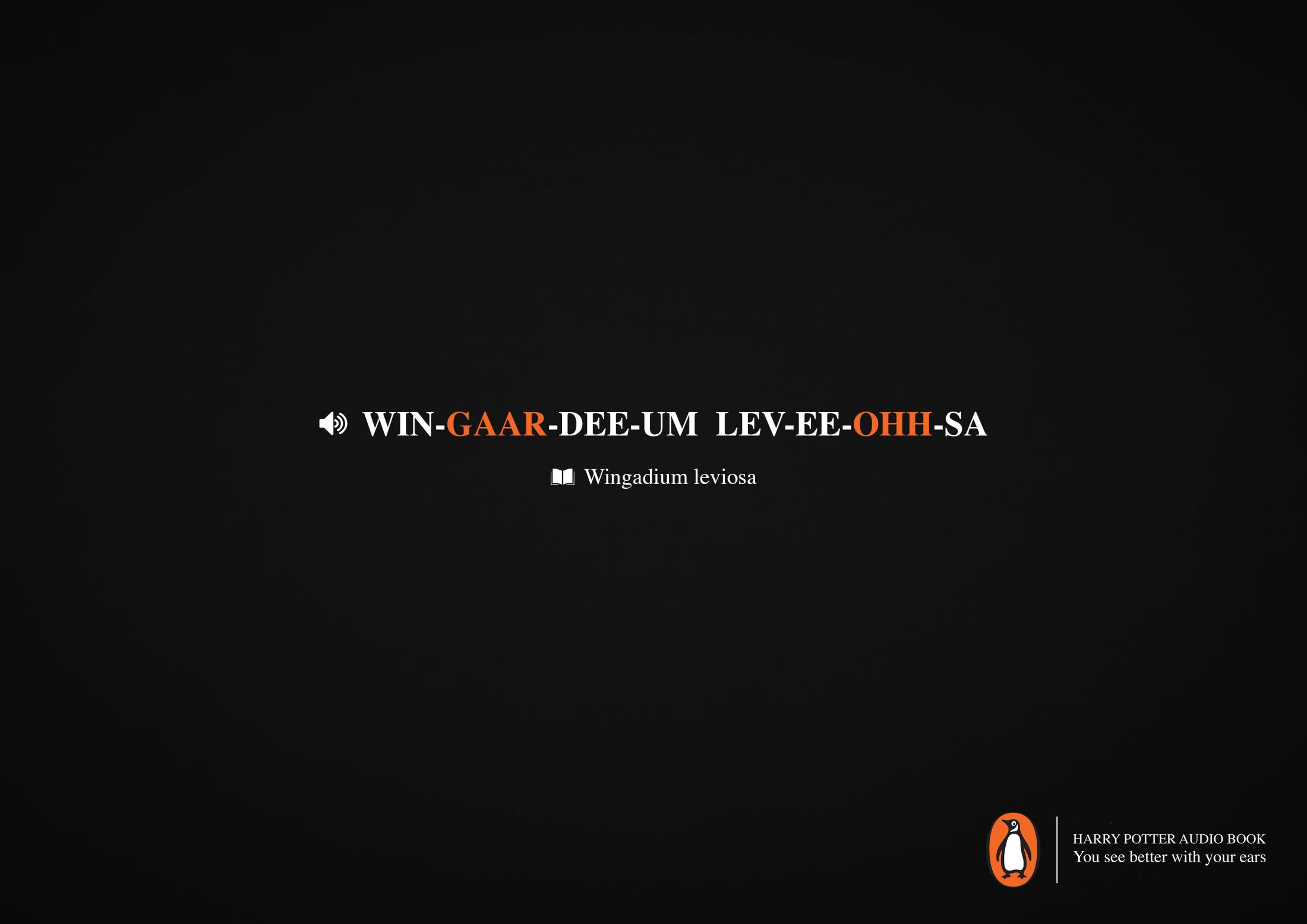 Penguin Print Ad - Wingadium Leviosa