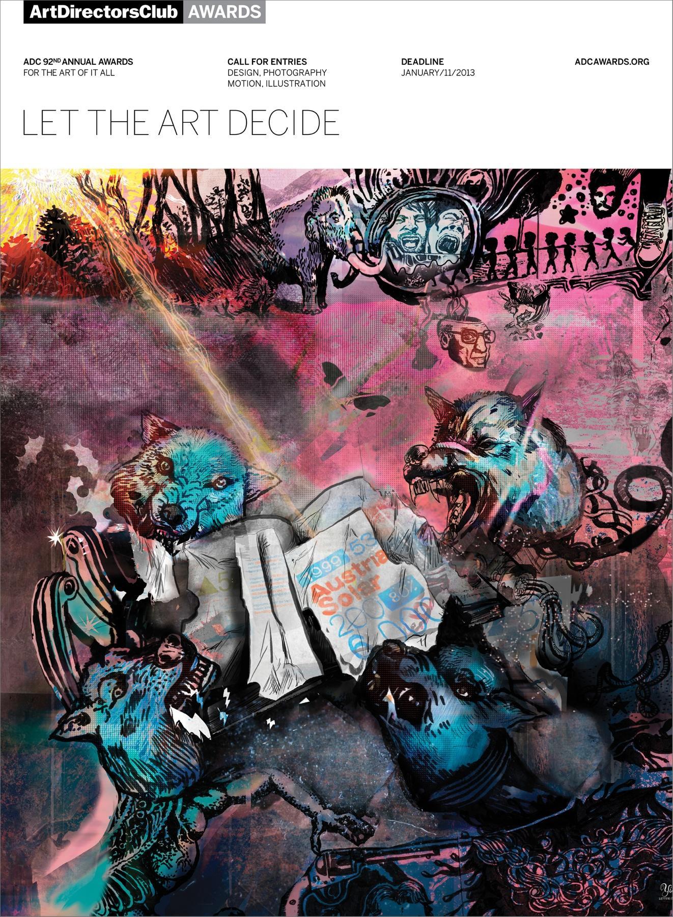 Art Directors Club Print Ad -  Let The Art Decide, Wolves