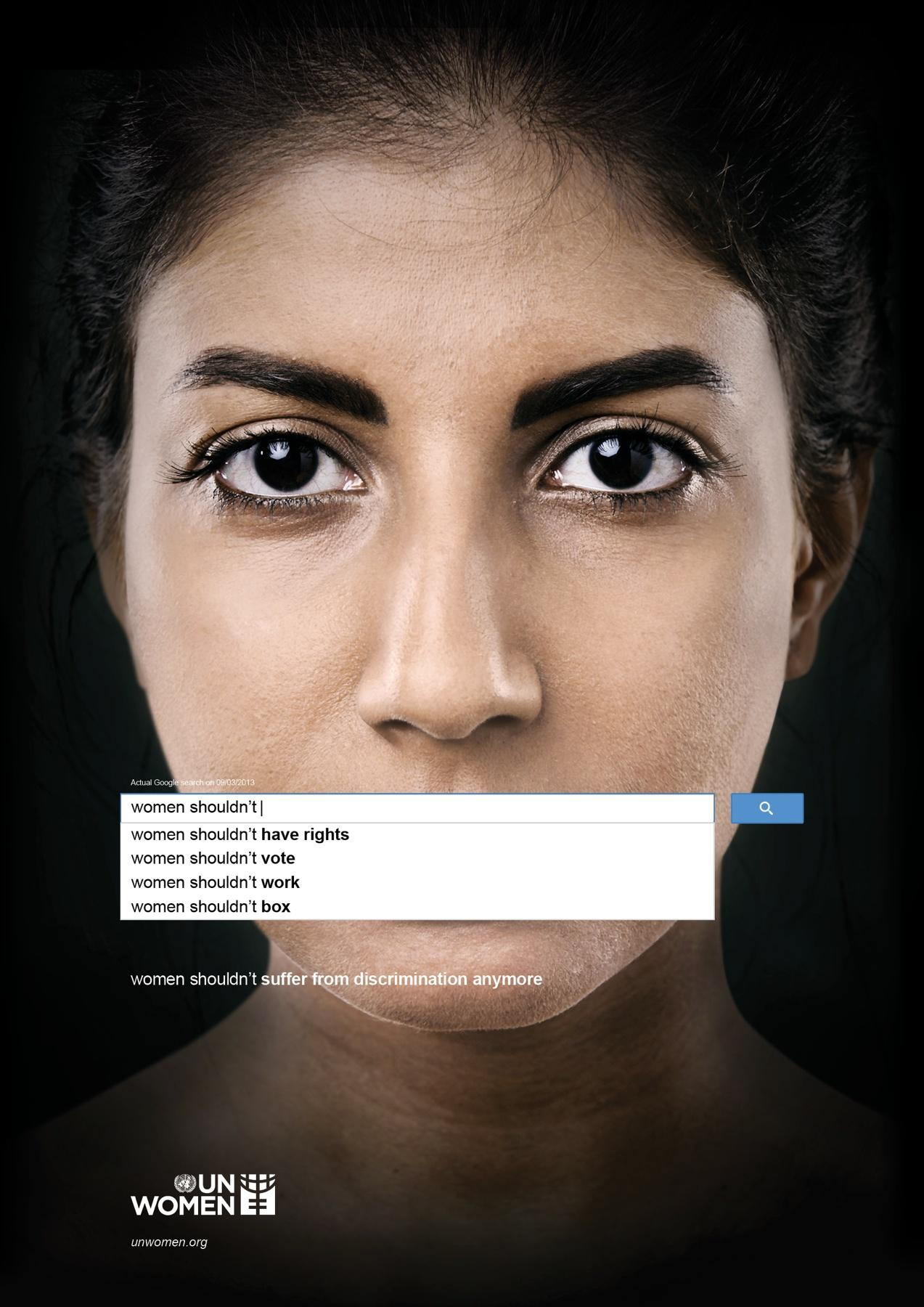 UN Women Print Ad -  Auto Complete Truth, 3