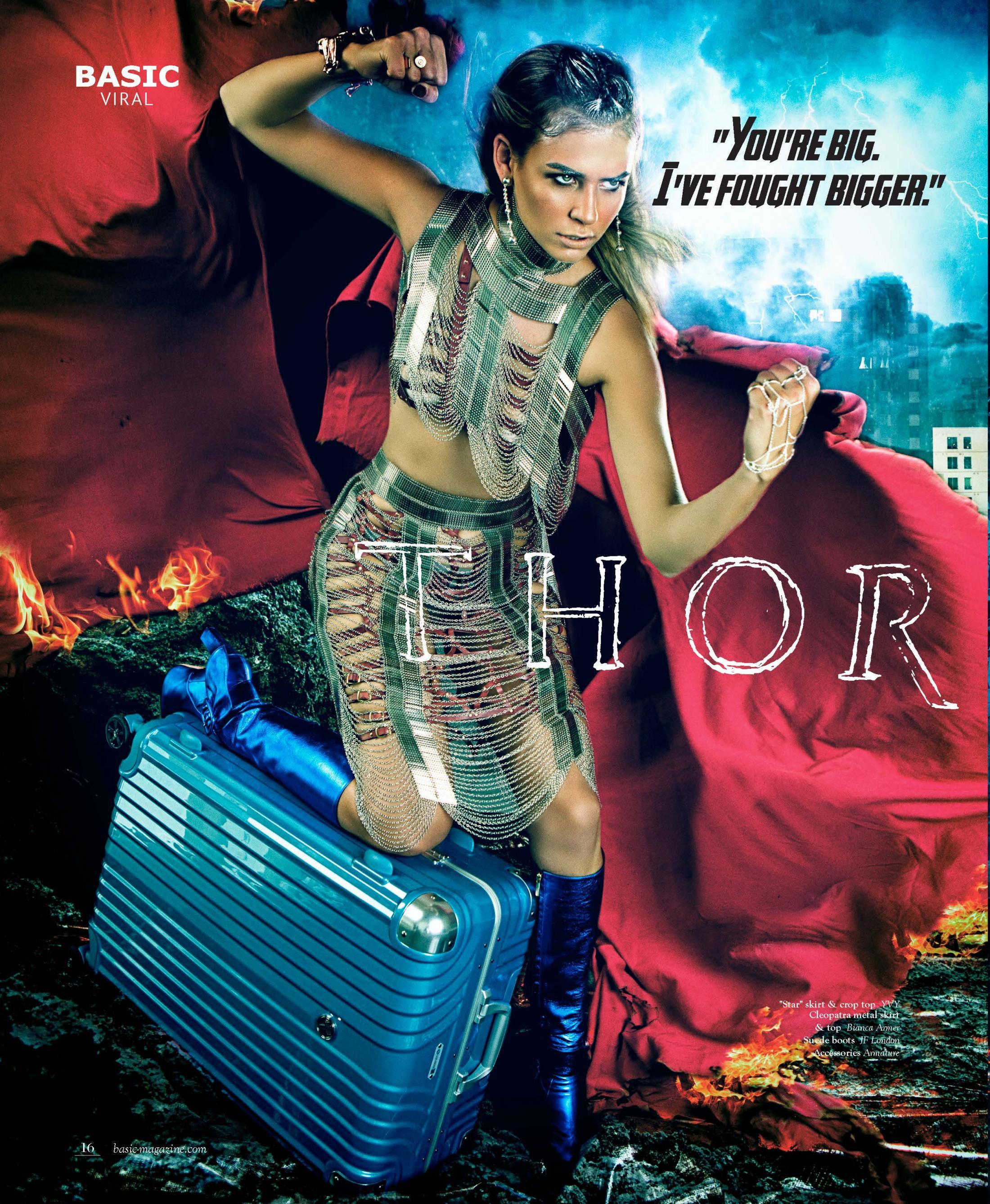 Deseno Print Ad - Women Superheroes - Thor