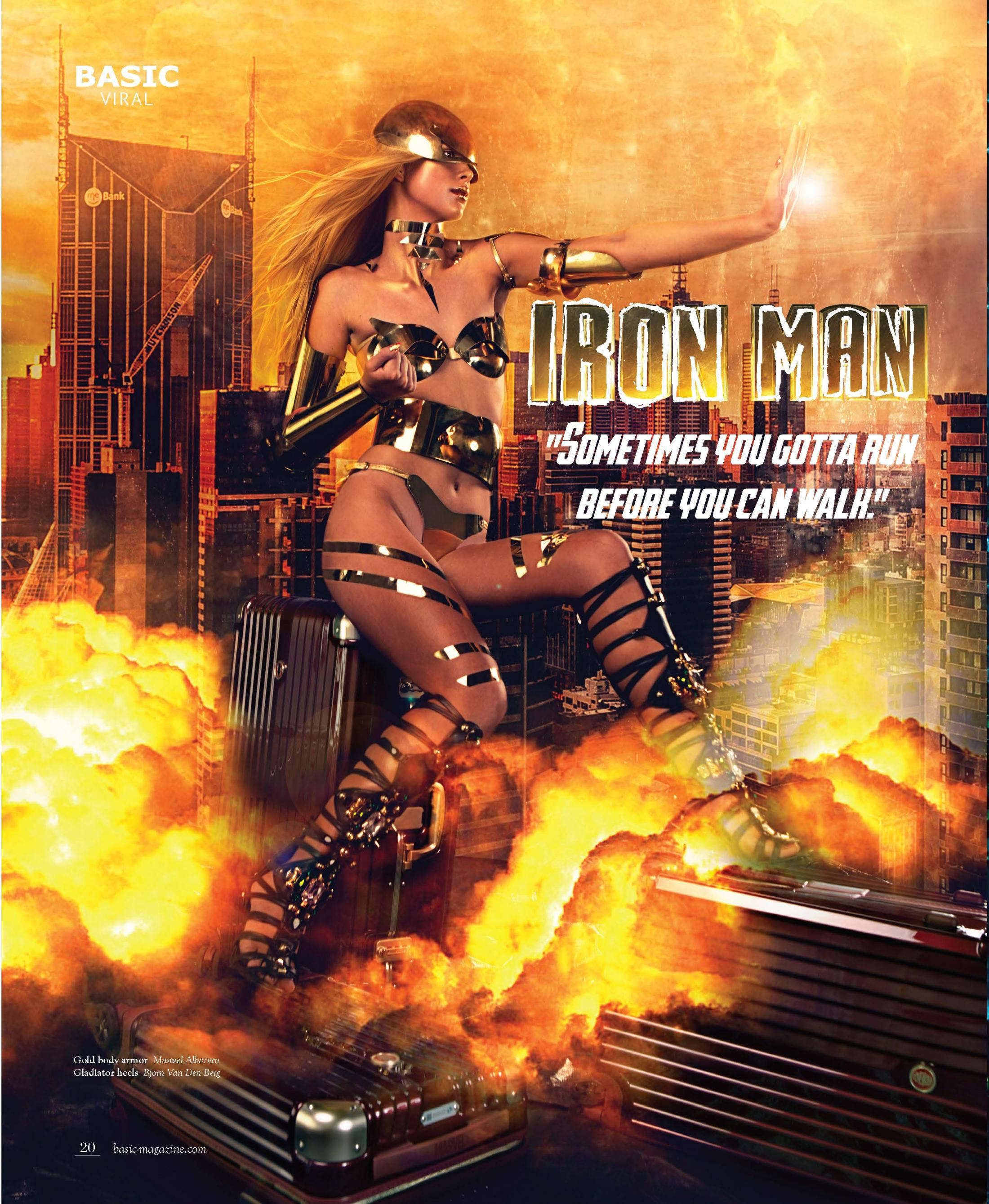 Deseno Print Ad - Women Superheroes - Iron Man