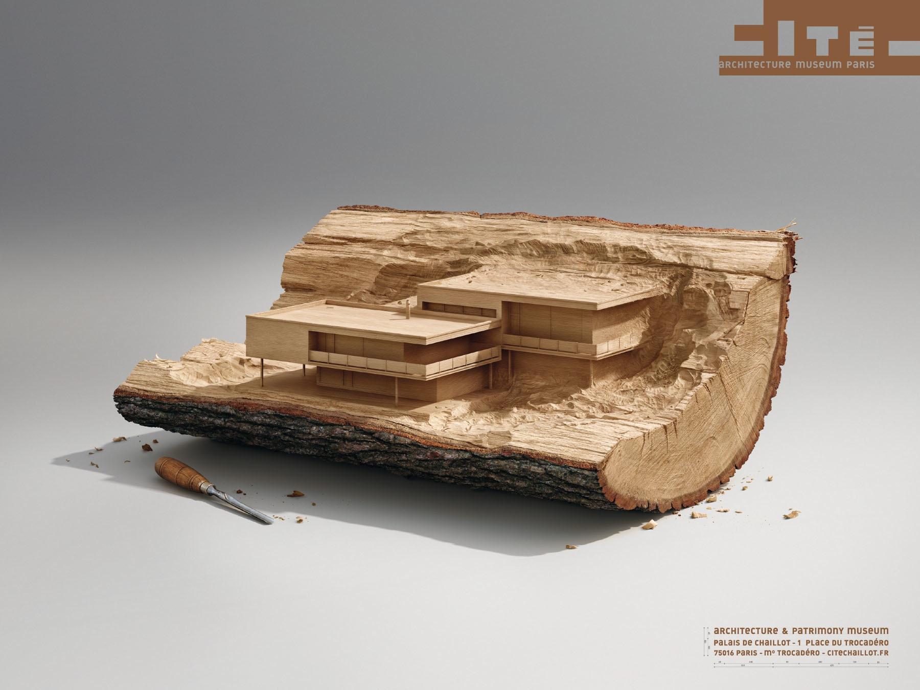 cité de l'architecture et du patrimoine Print Ad -  Wood
