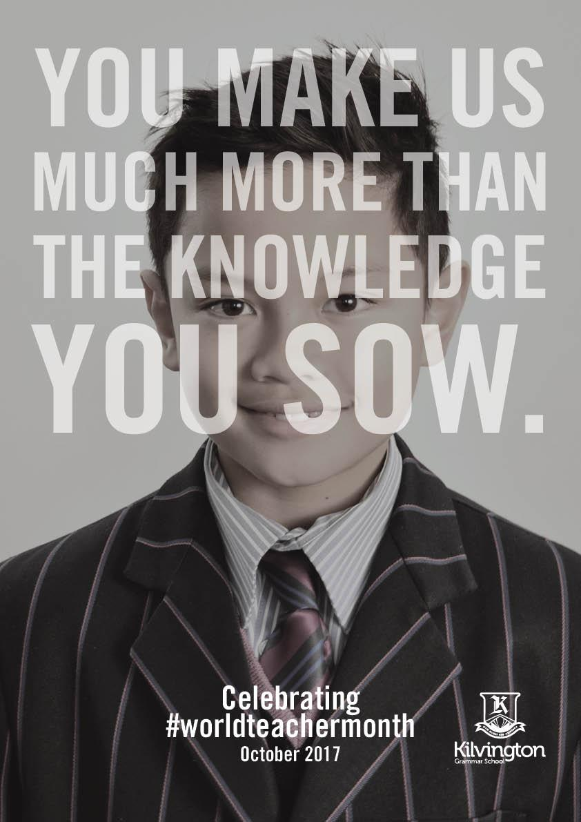 Kilvington Grammar School Print Ad - World Teacher Month - Print, 3