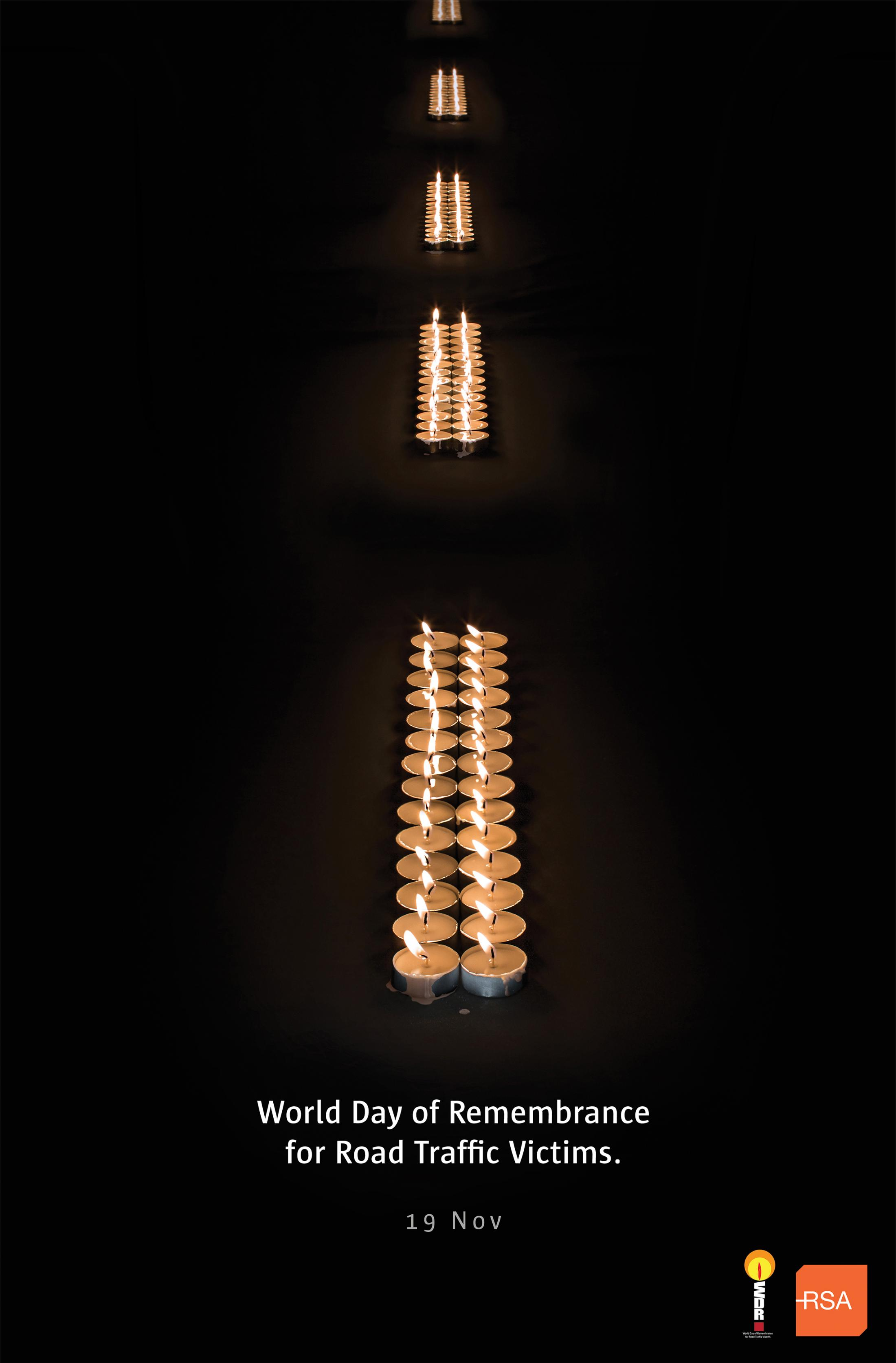 Road Safety Authority Ireland Print Ad - Candles