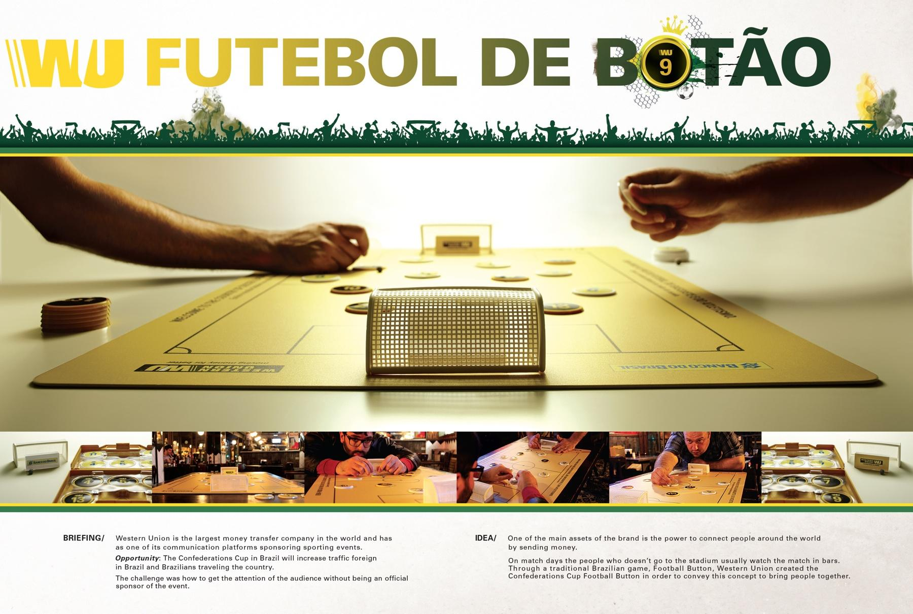 Western Union Ambient Ad -  Football button