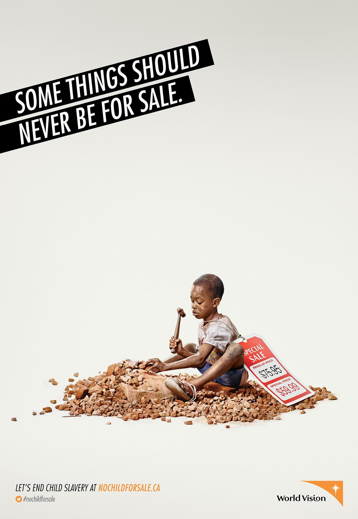 World Vision Print Ad -  Child, 1