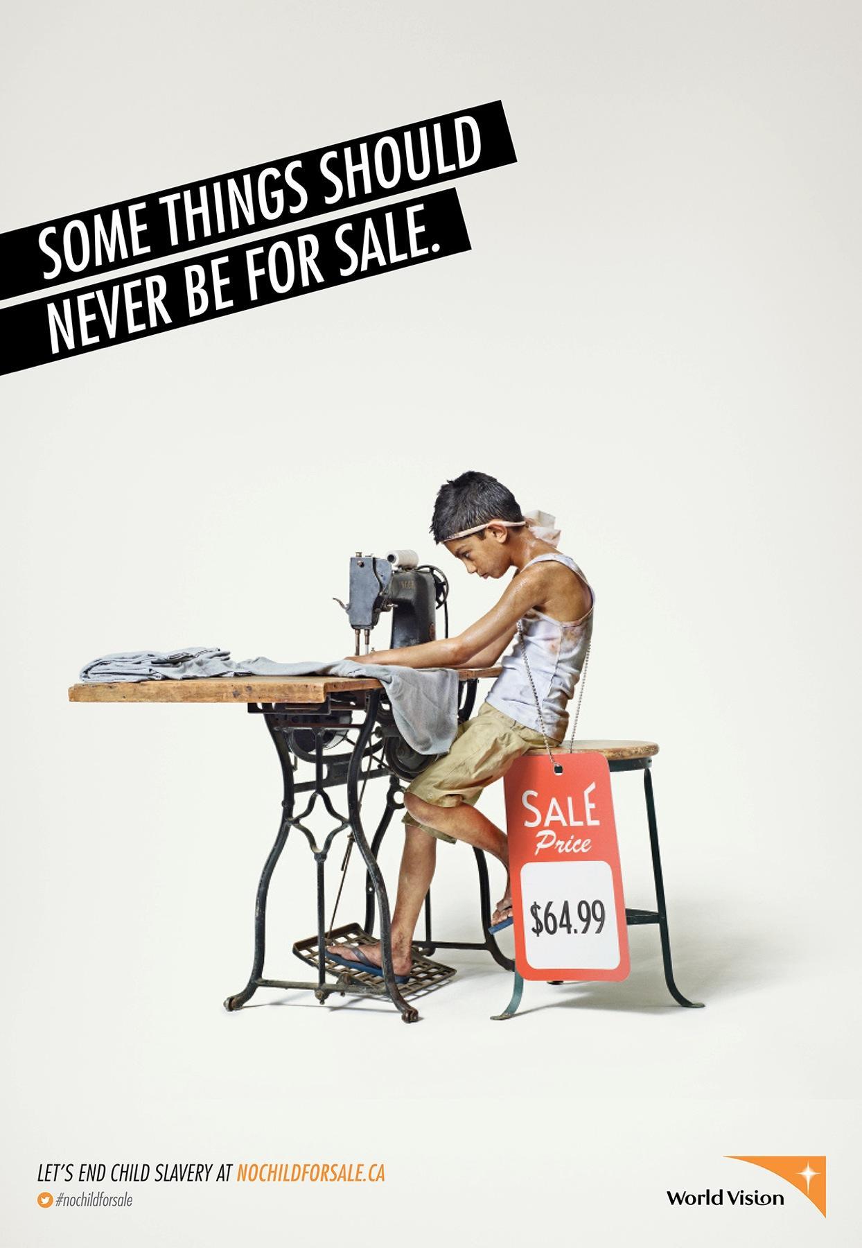 World Vision Print Ad -  Child, 2