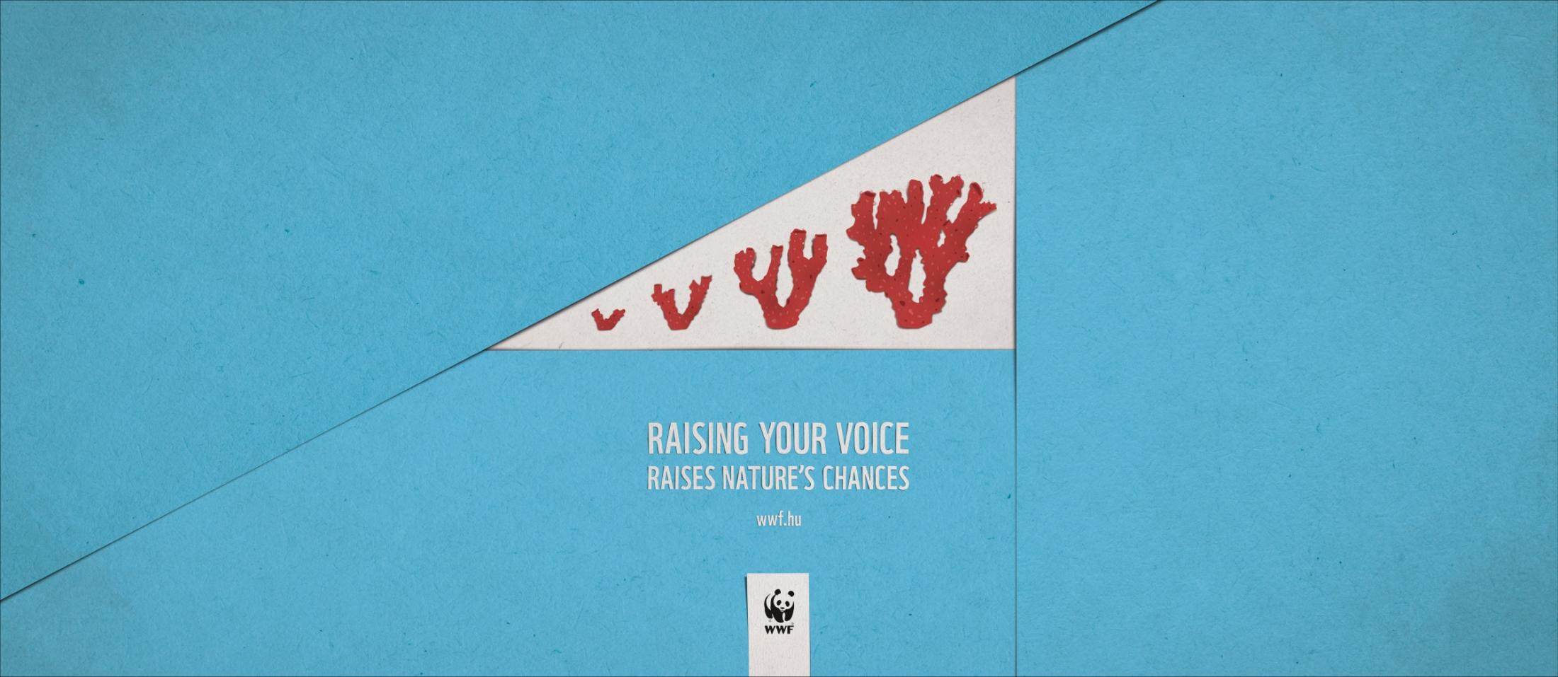 WWF Print Ad -  Coral