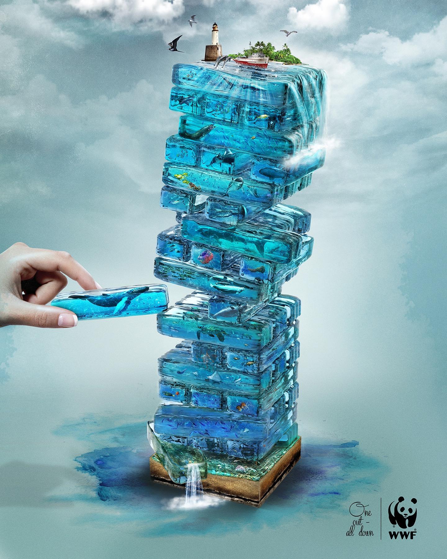 WWF Print Ad - Blue