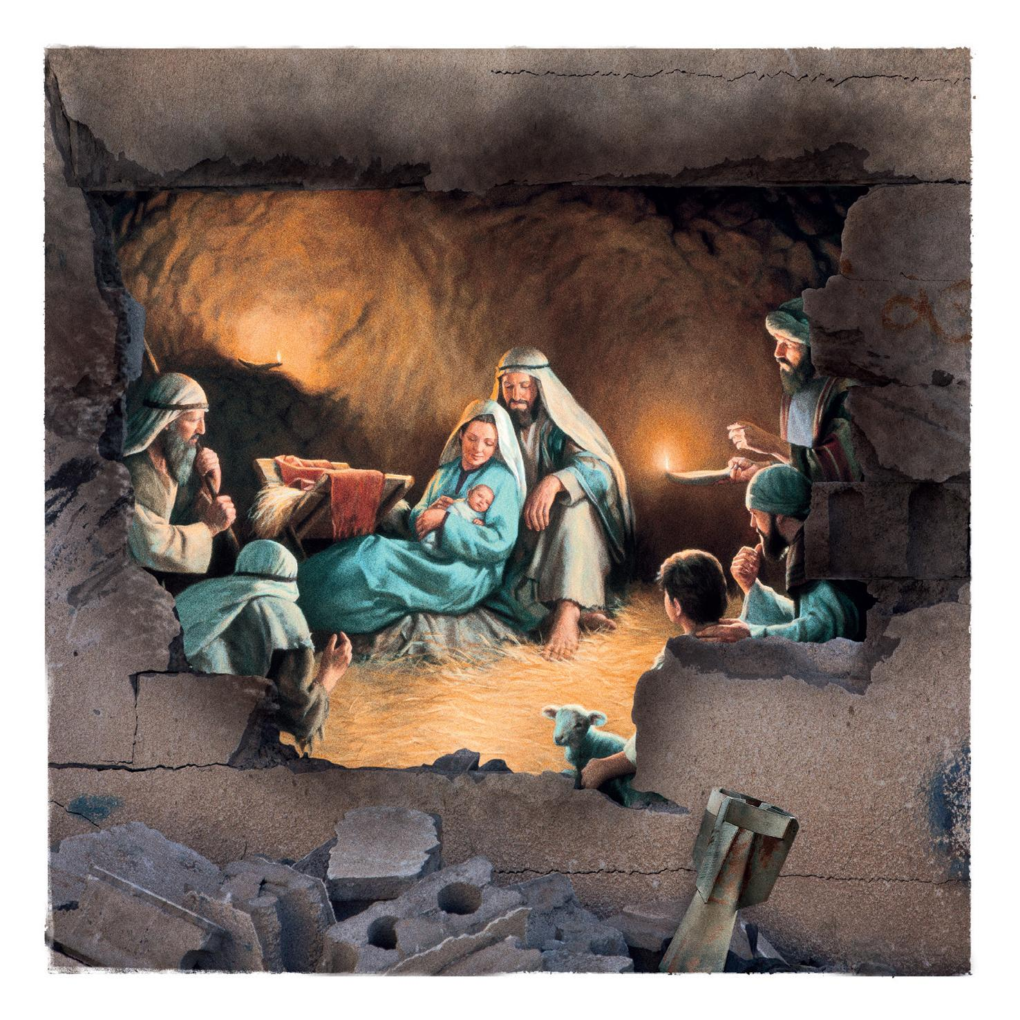 Doctors Of The World Direct Ad   War Torn Syria Nativity Scene Christmas  Cards
