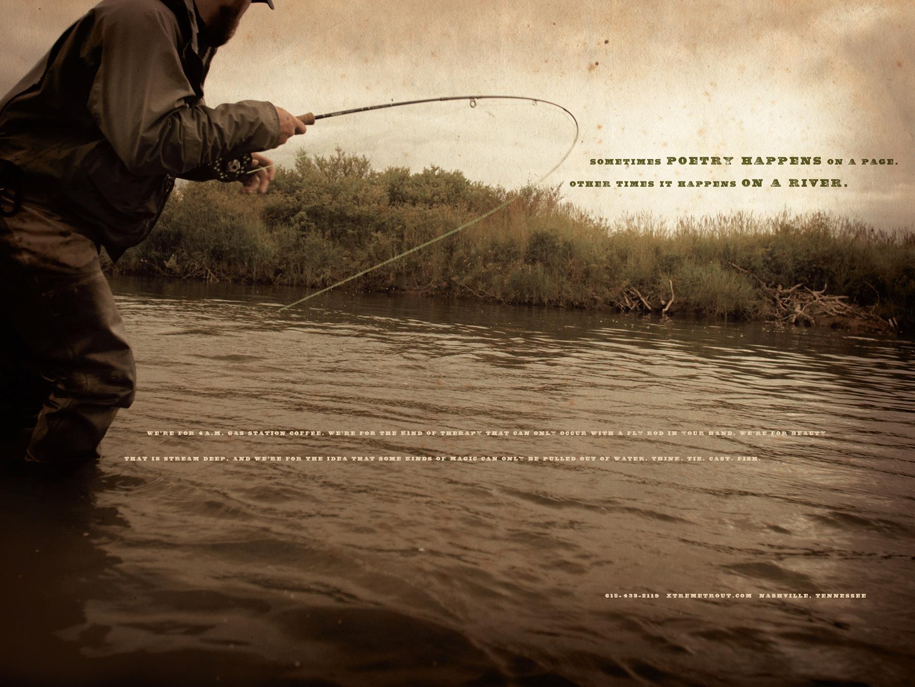 Xtreme Trout Print Ad -  Poetry