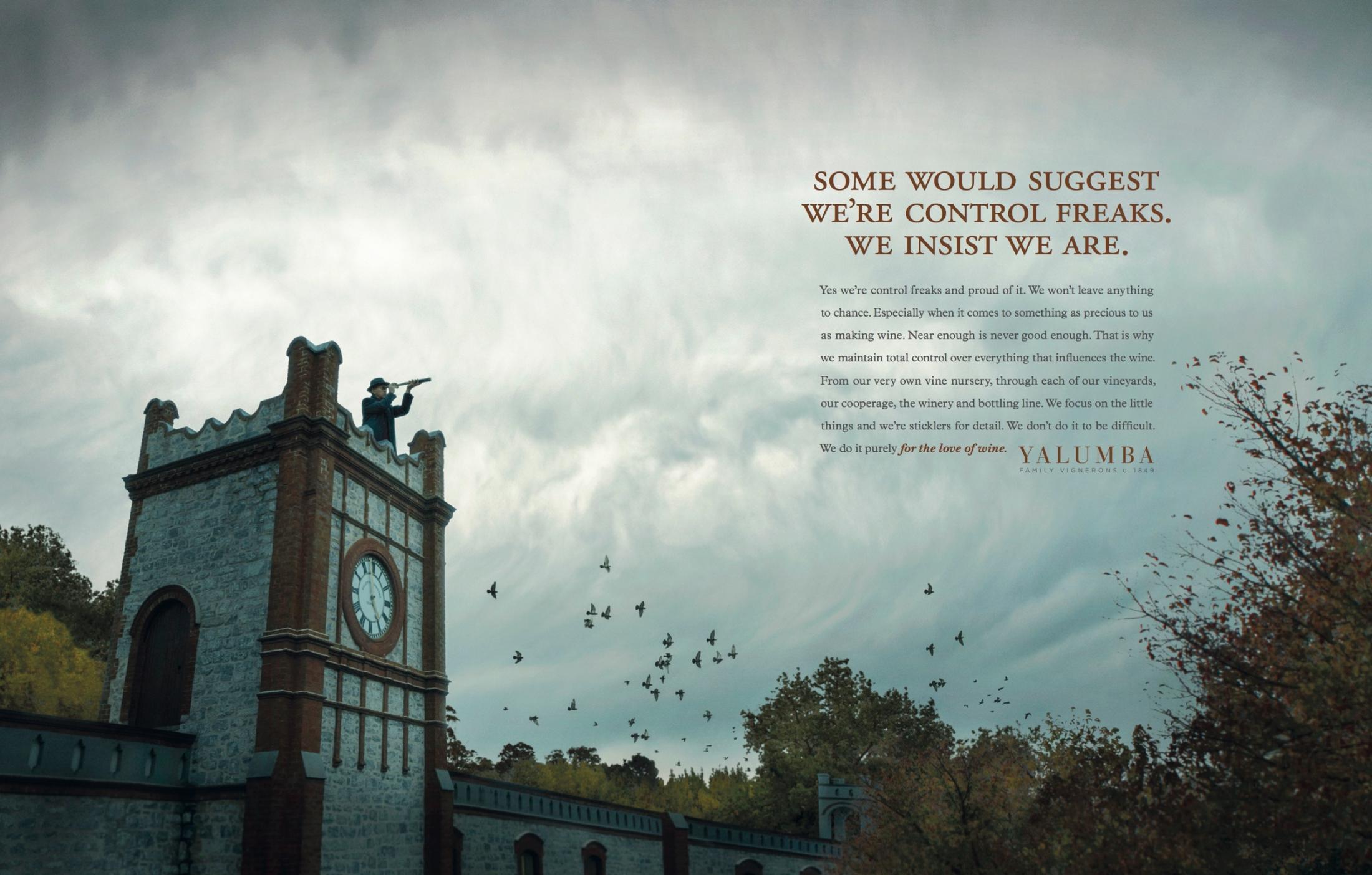 Yalumba Print Ad -  Control Freaks