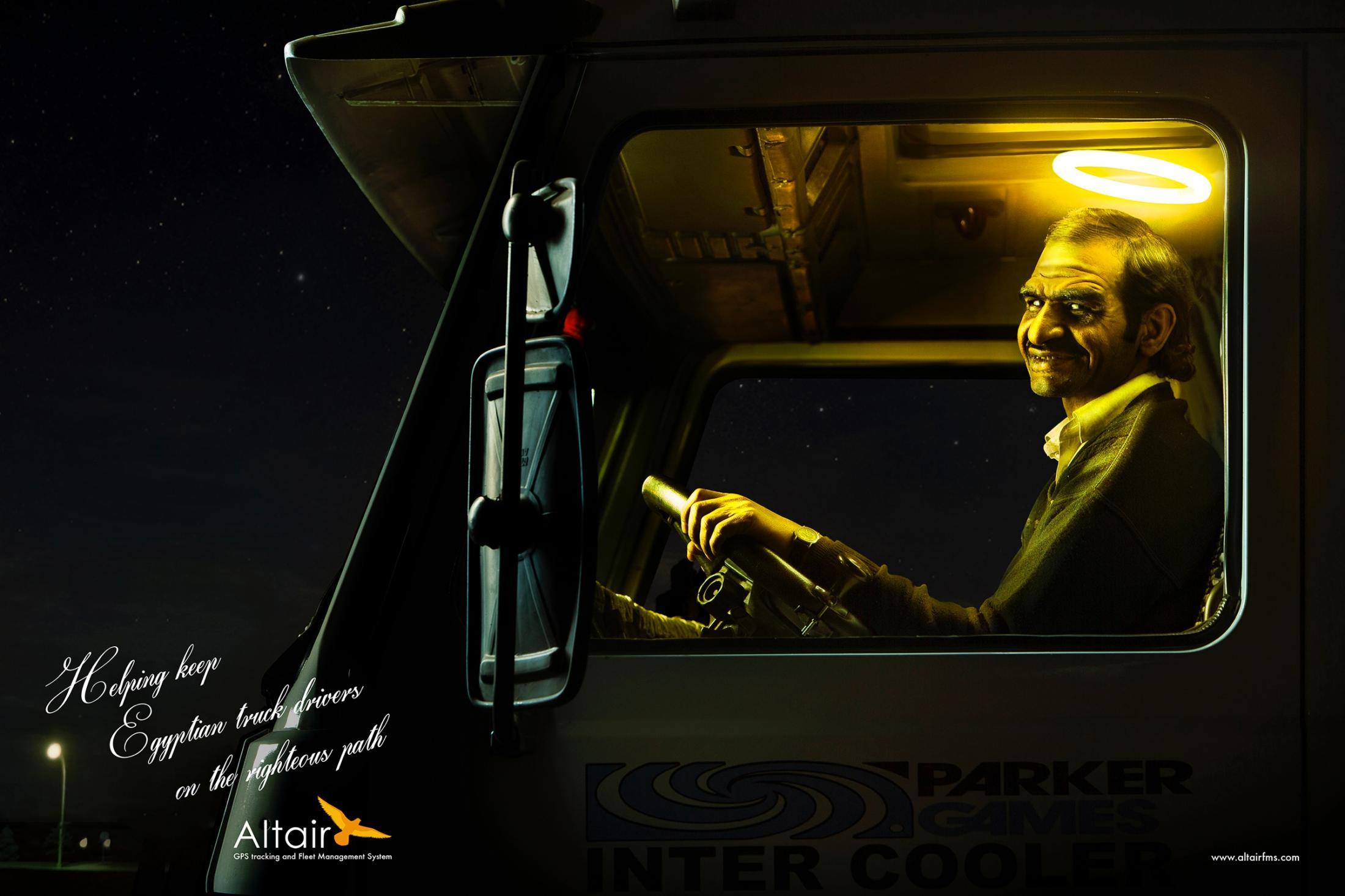 Altair Print Ad -  Yellow saint