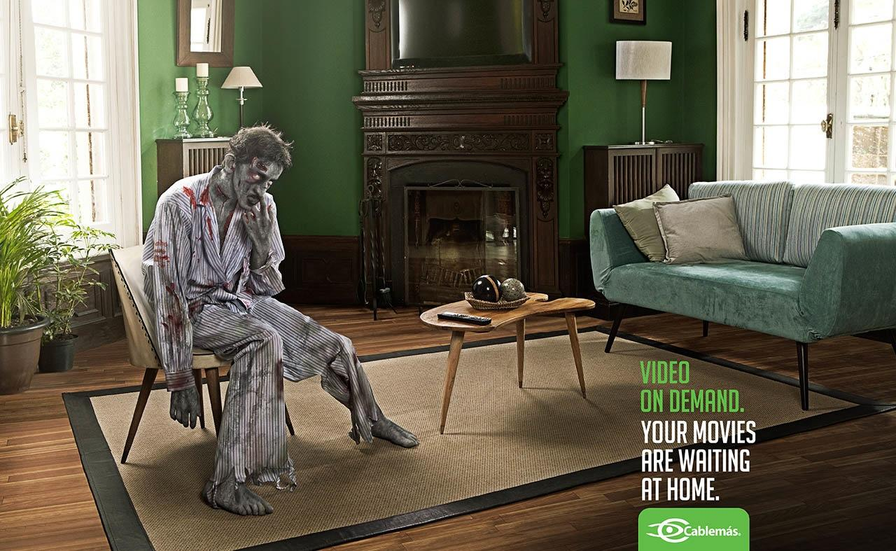 Cablemas Print Ad -  Zombie